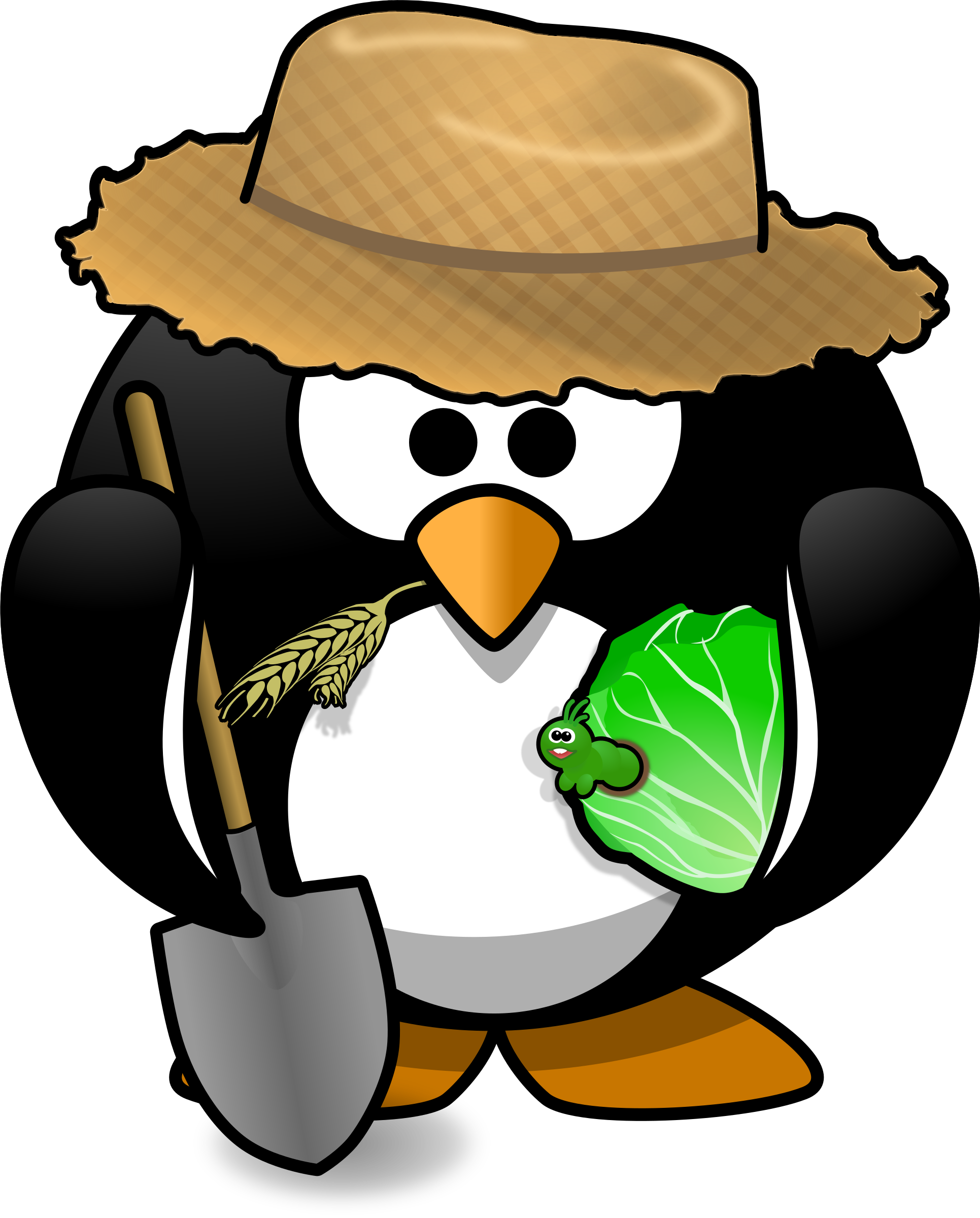 Farmer penguin by Moini