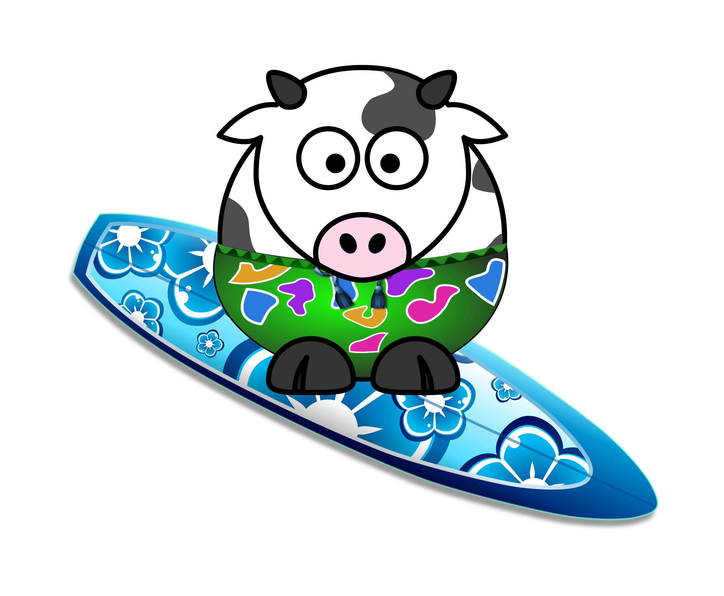Surfer Cow by KAMC