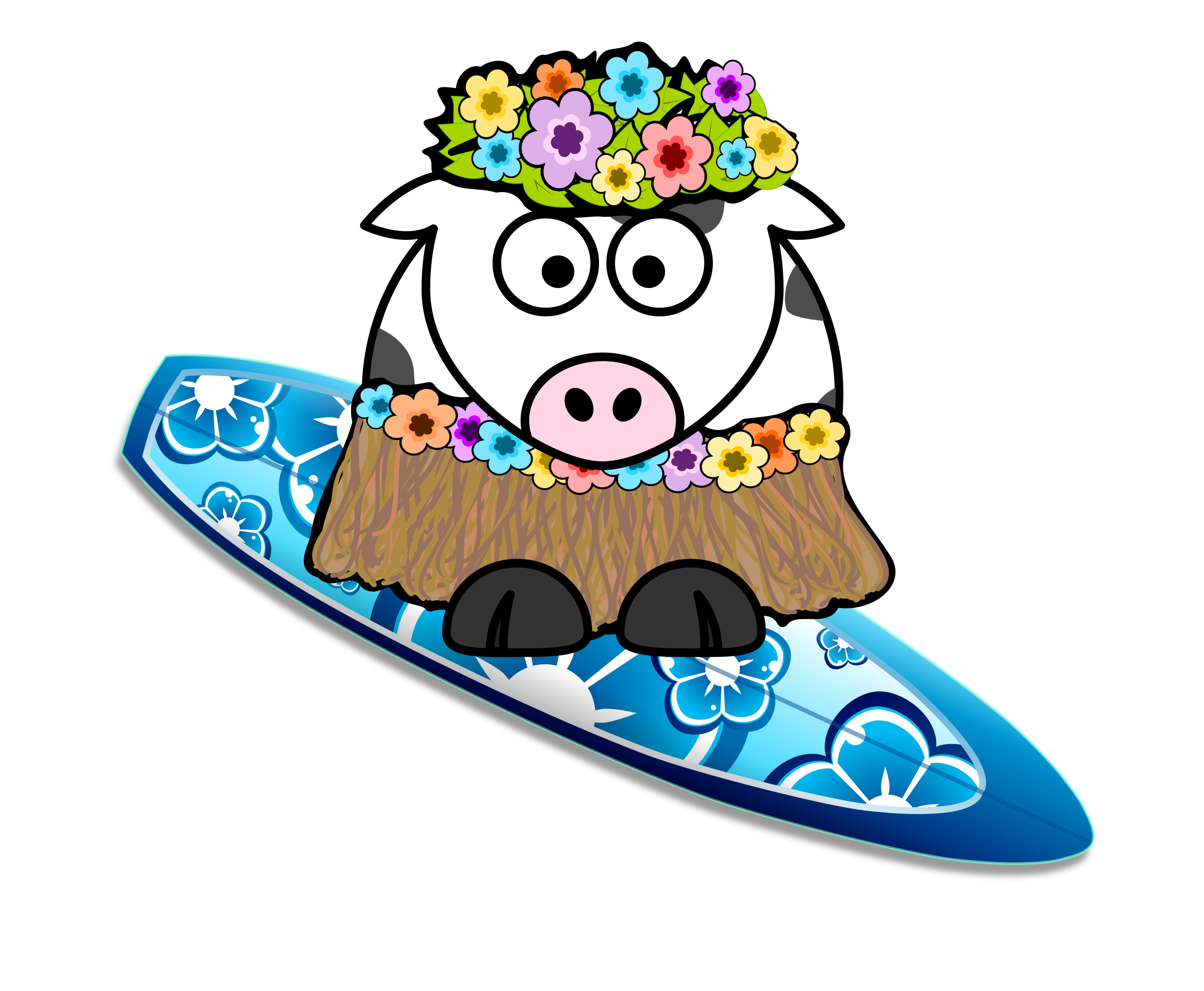 Surfer Girl Cow by KAMC