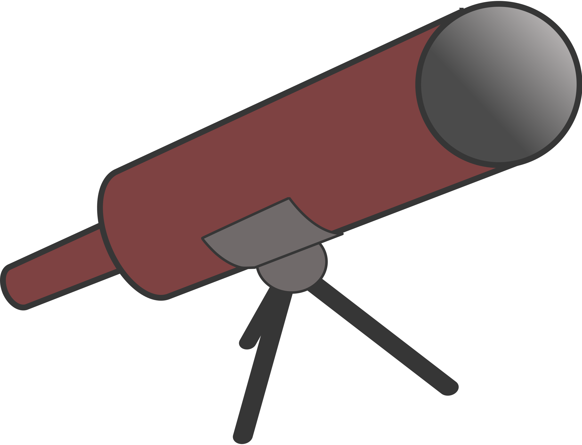 Simple cartoony telescope with tripod by anarres