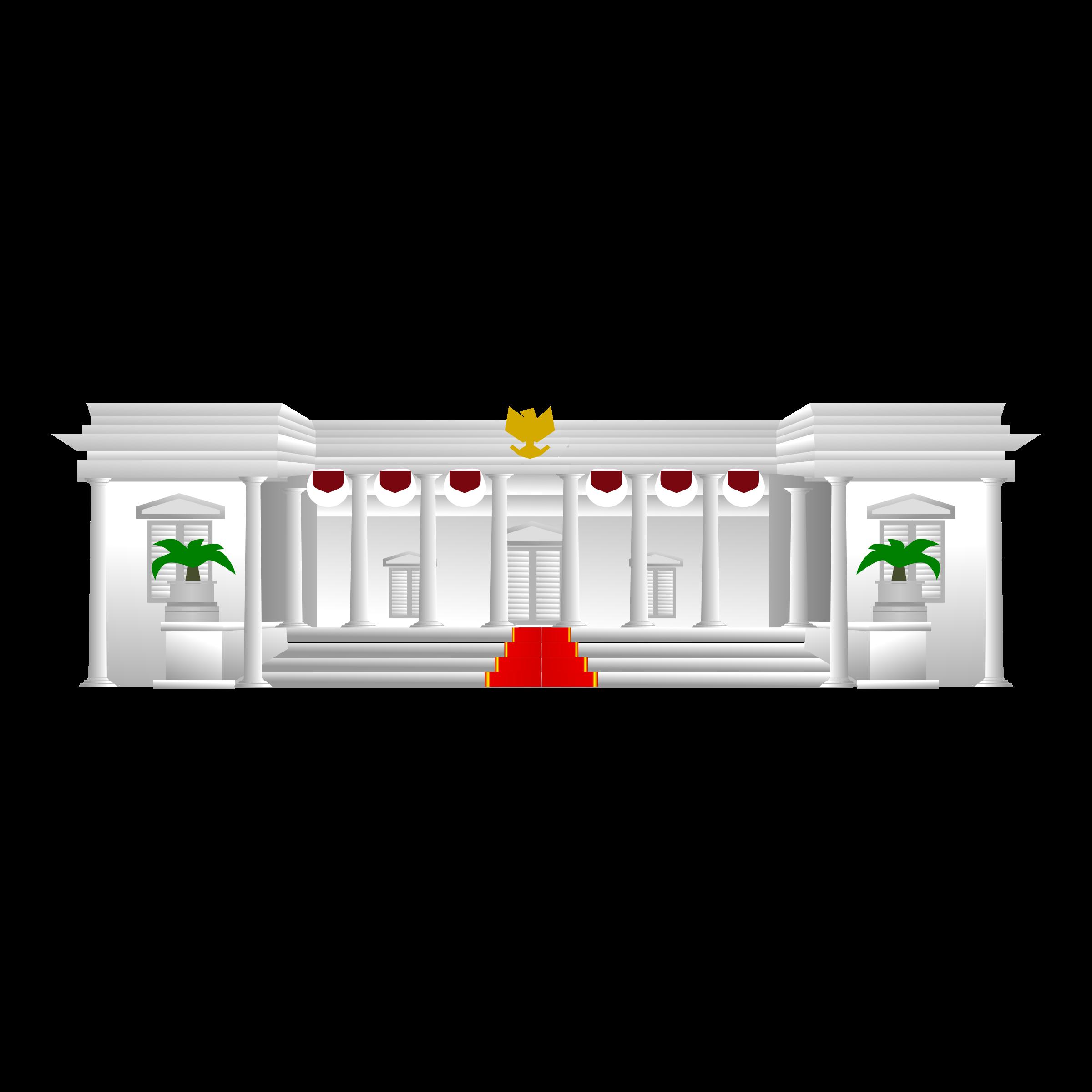 clipart istana presiden  indonesian presidential palace Website Icon Vector Facebook Icon Vector