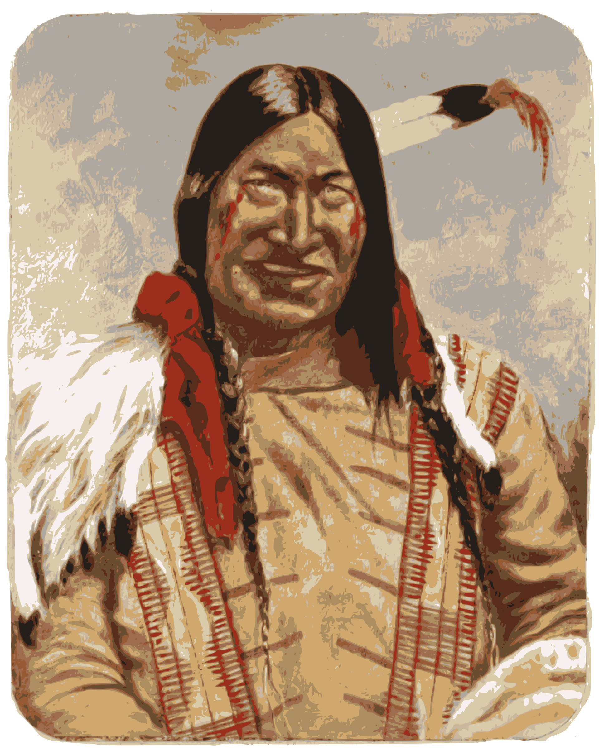 Native American Man by j4p4n