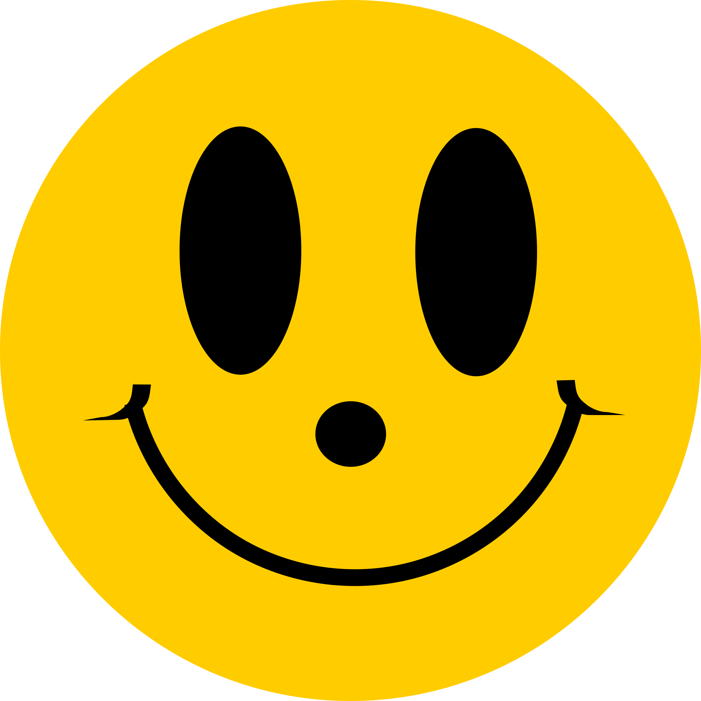 Simple Flat Smiley Face Smile by NewAeonDesign