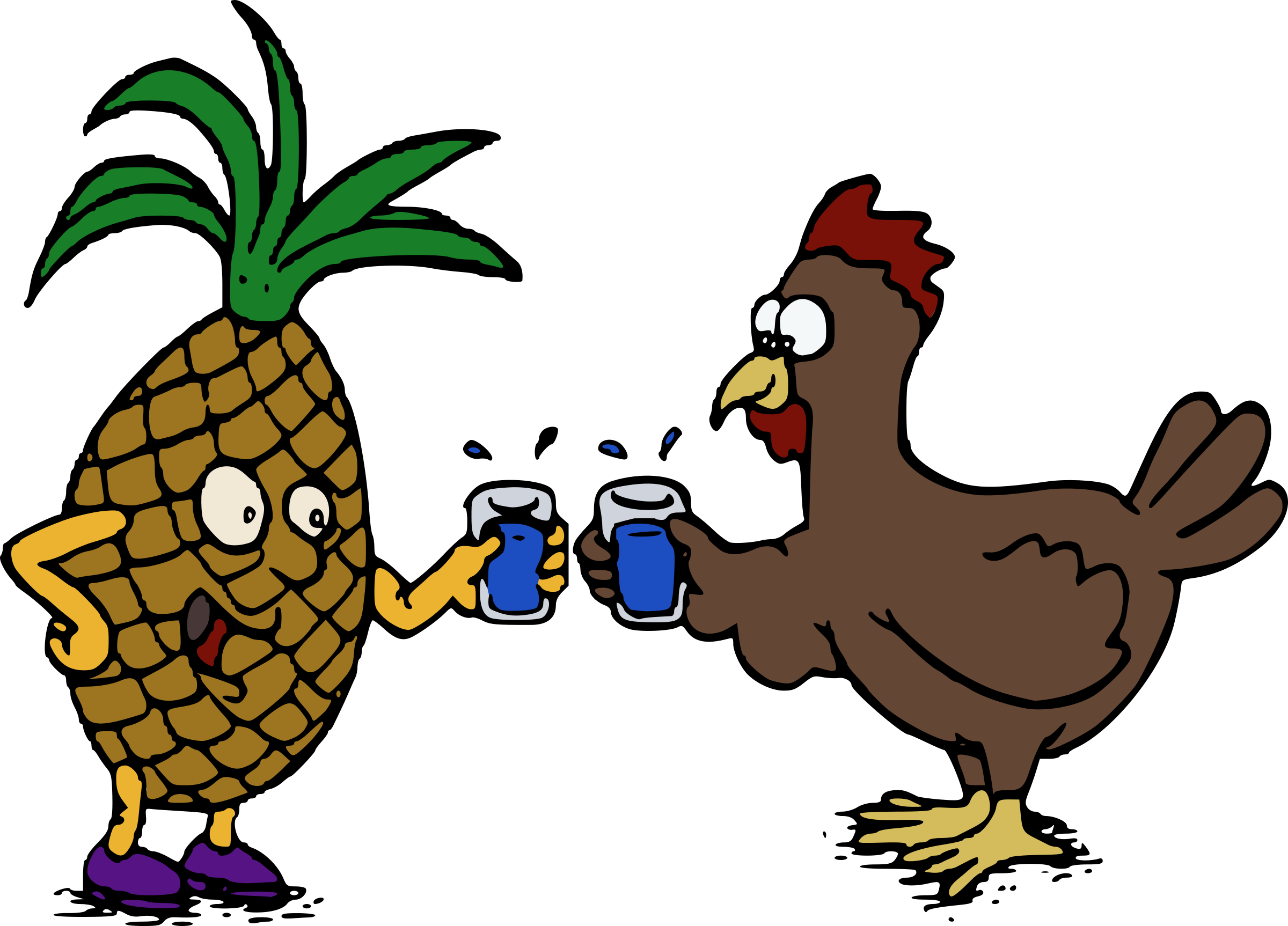 Pineapple and Chicken - Cheers! by j4p4n