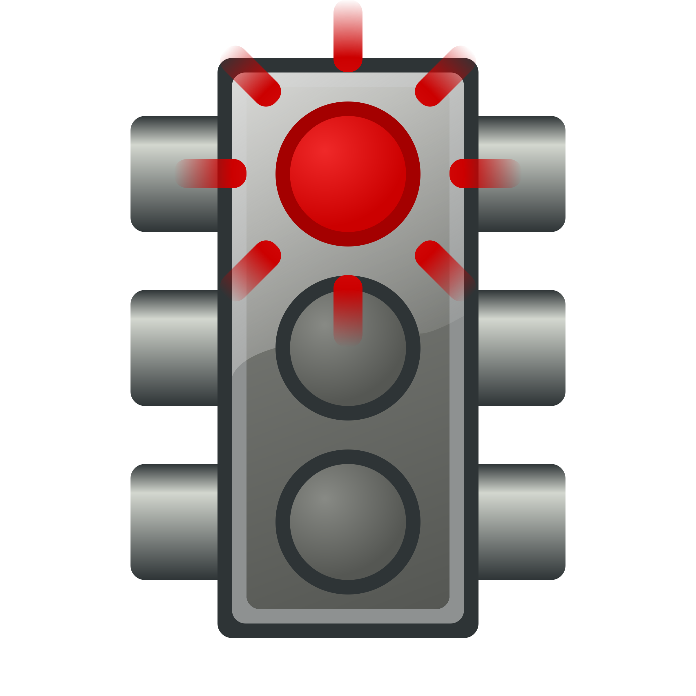 Flashing red traffic light by jhnri4