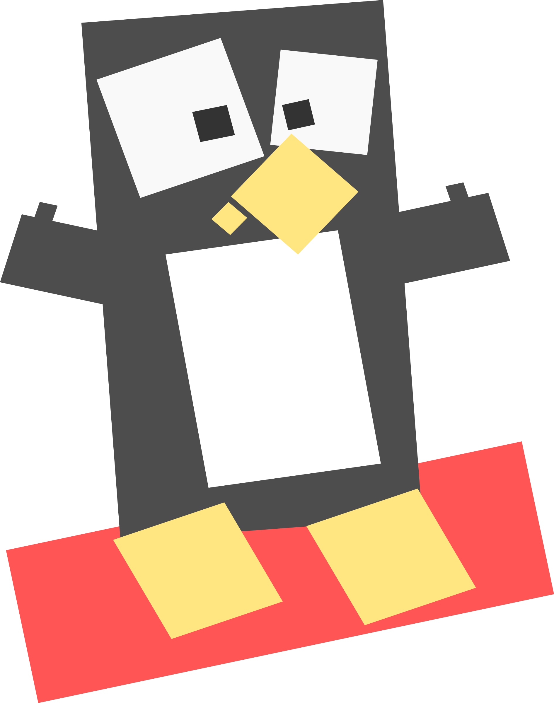 Square animal cartoon penguin by Dog99x