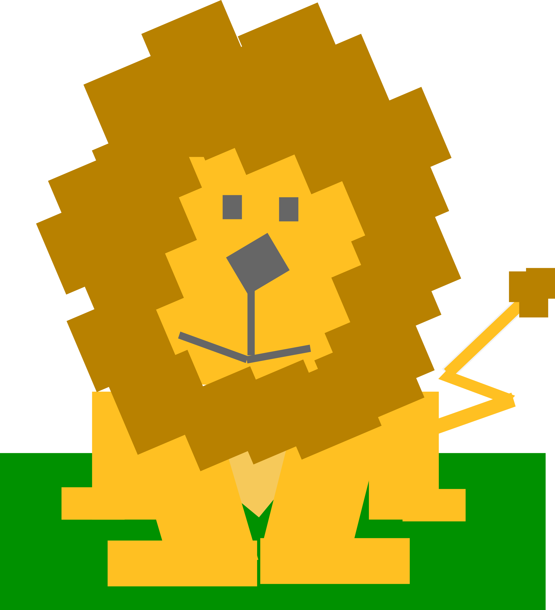 Square animal cartoon lion by Dog99x