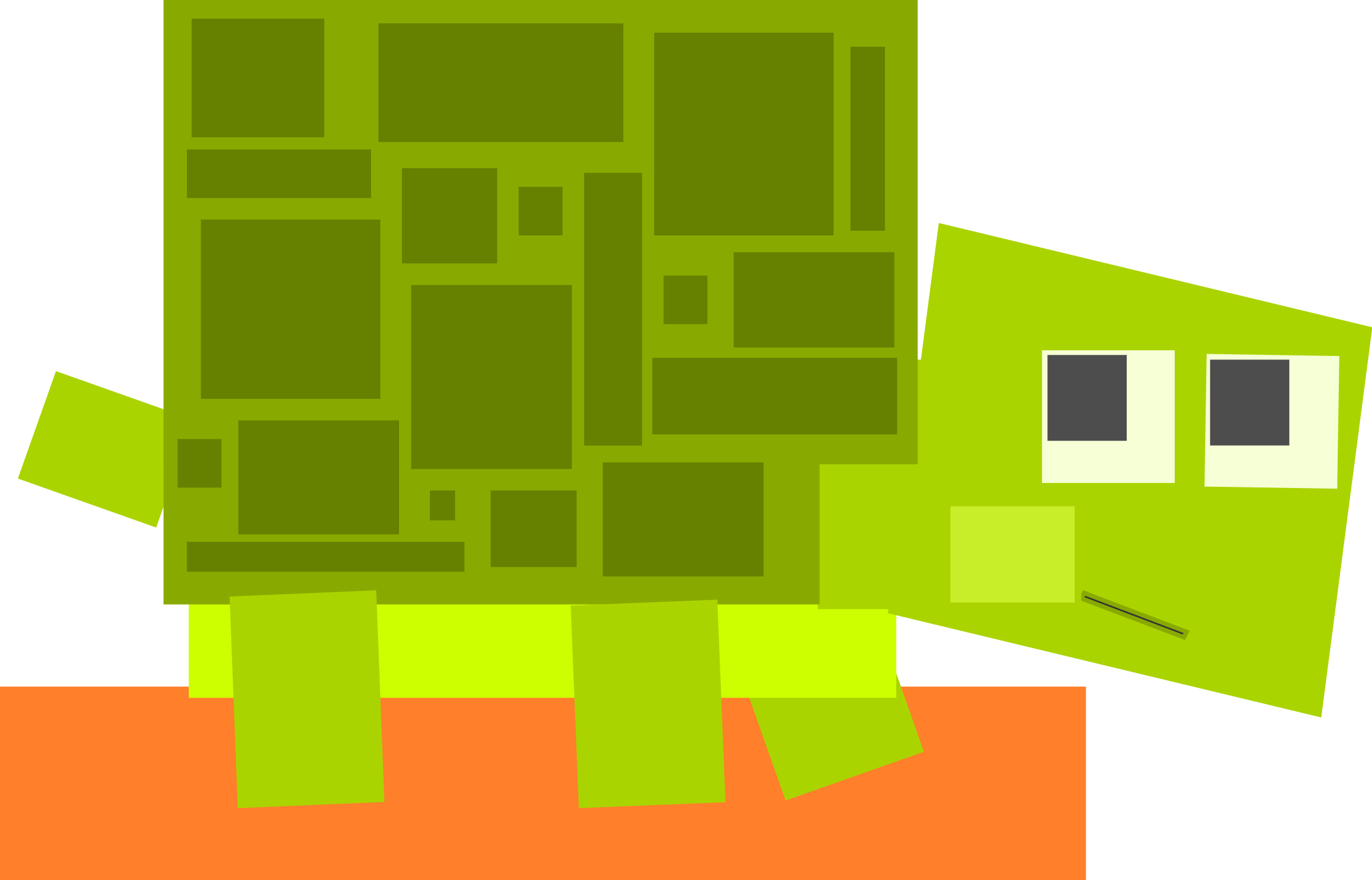 Square animal cartoon turtle by Dog99x