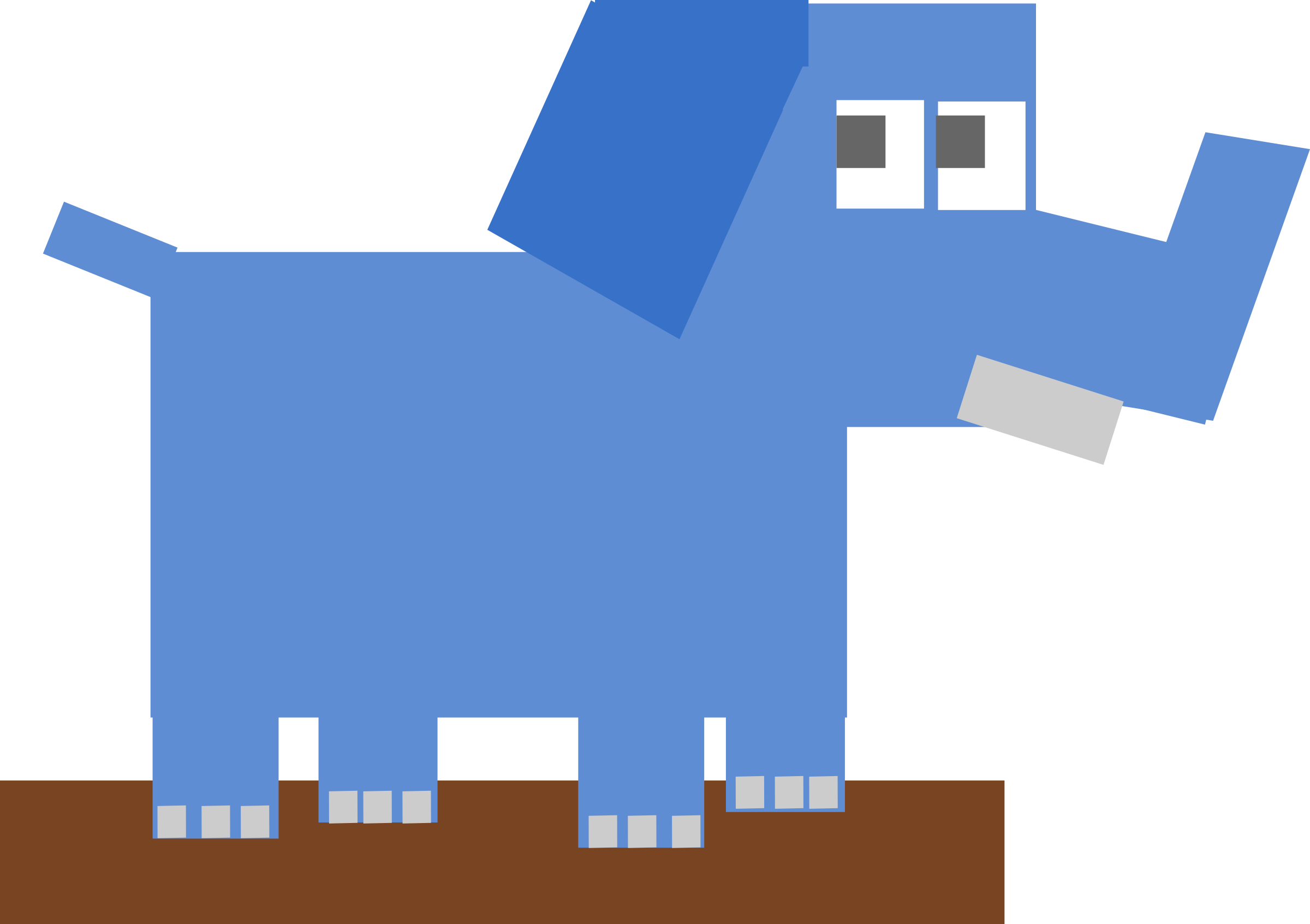 Square animal cartoon elephant by Dog99x