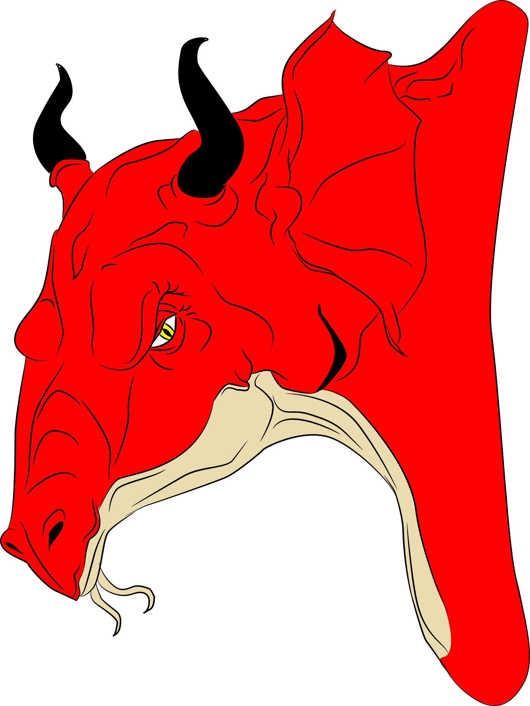 Red Dragon Head by jpneok