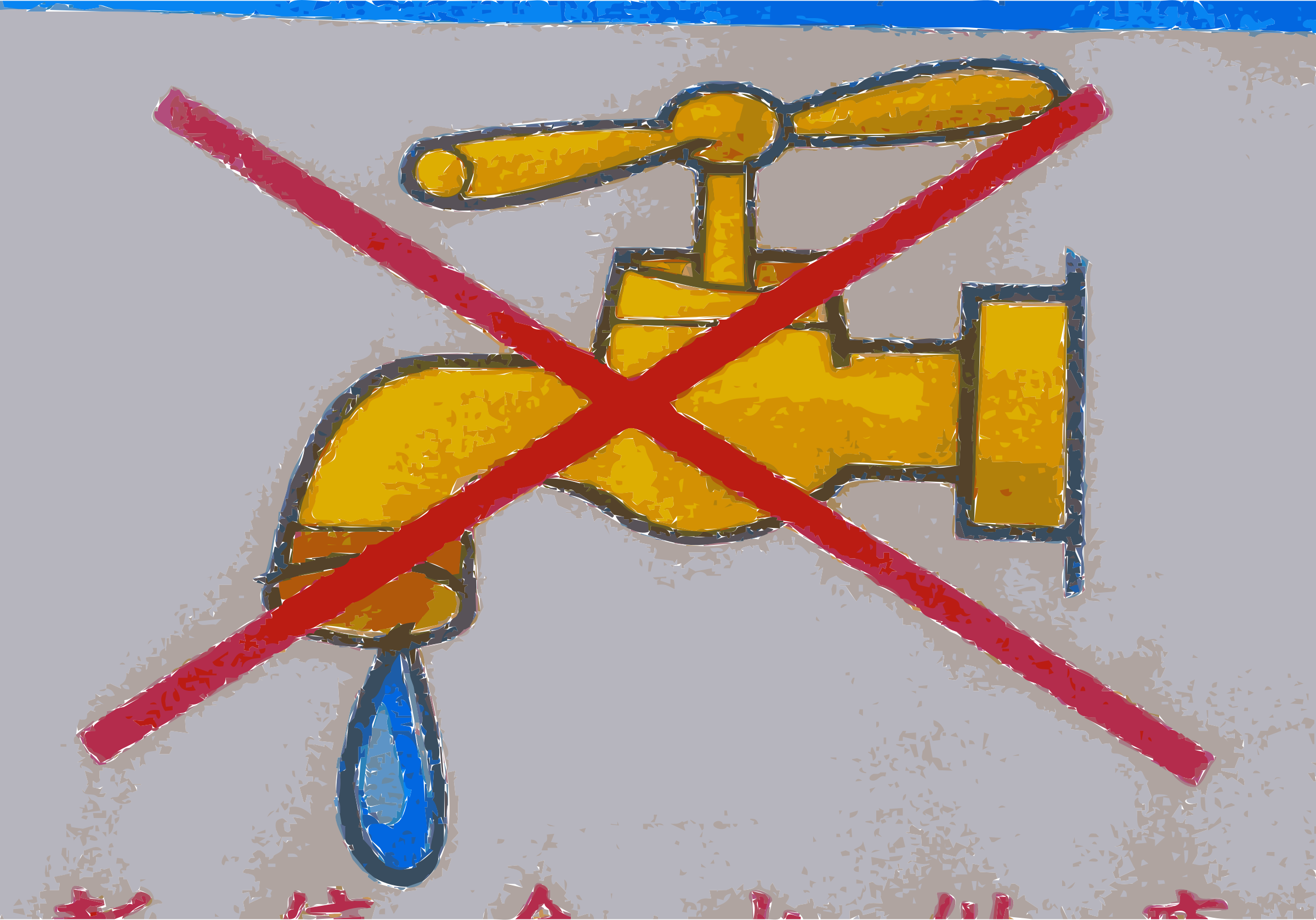 No Water or Water Use Prohibited Sign (Draught or Poison) by wanglizhong