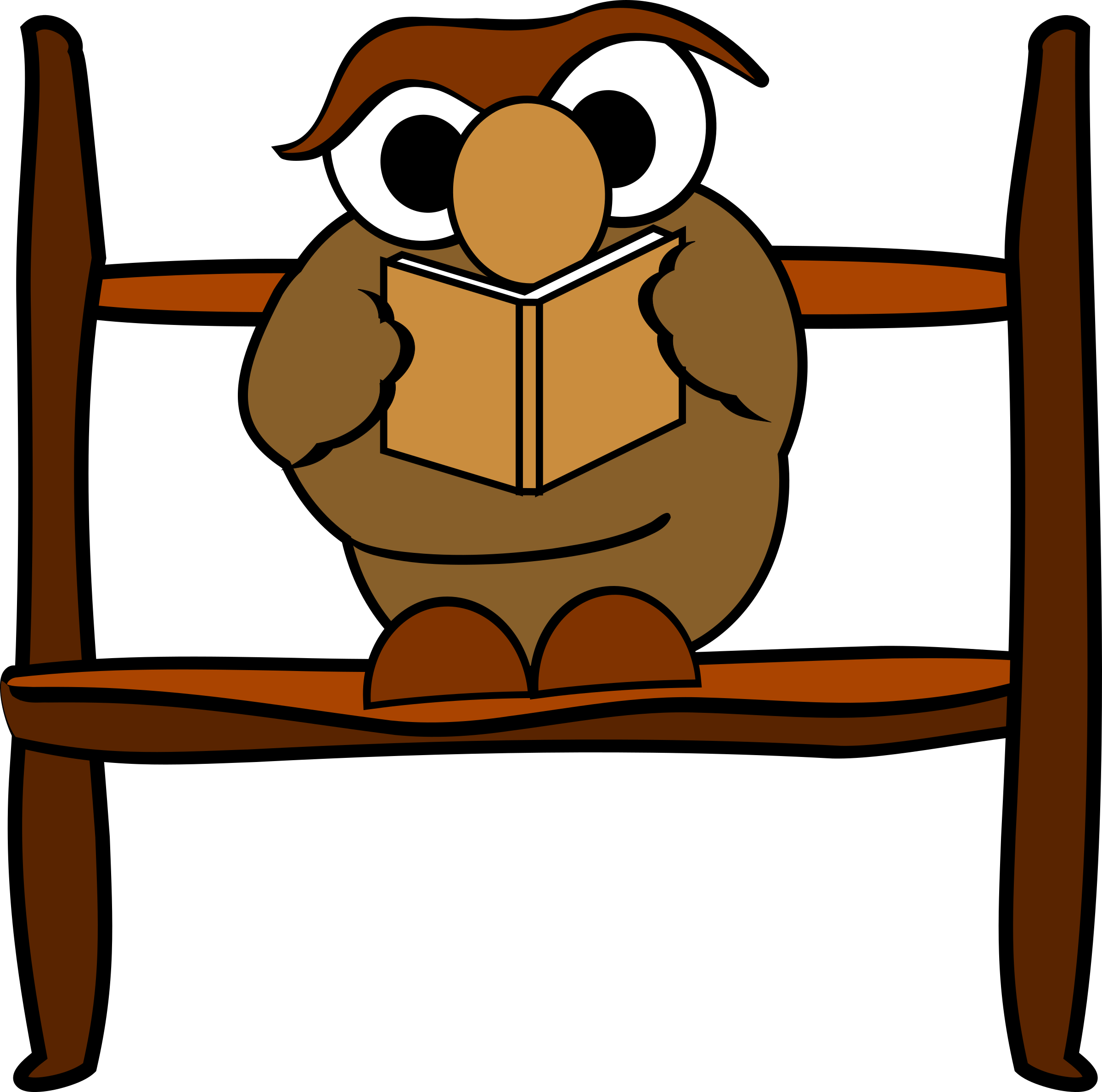 Reading owl by rdevries