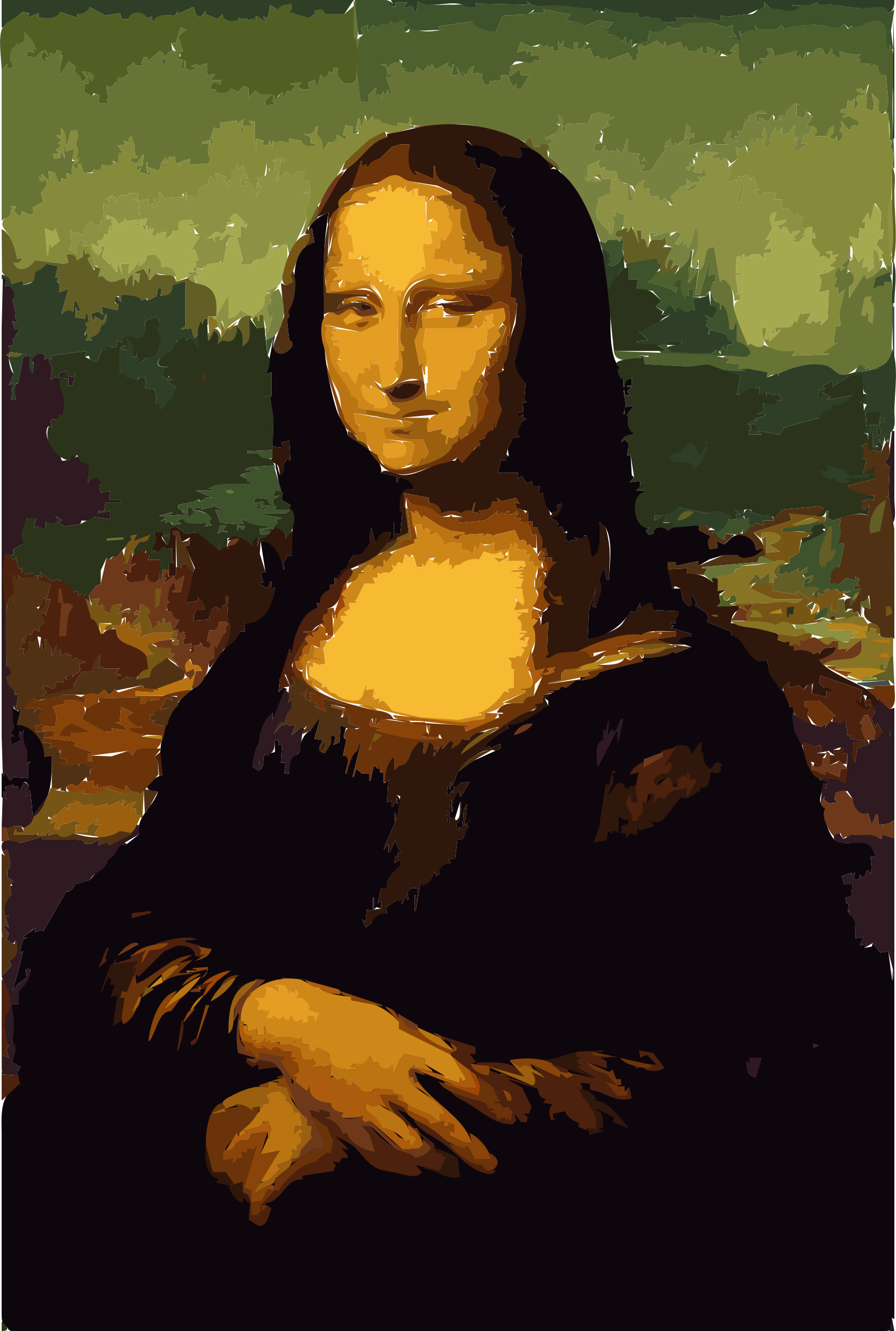 Here is another New Mona Lisa Painting by rejon