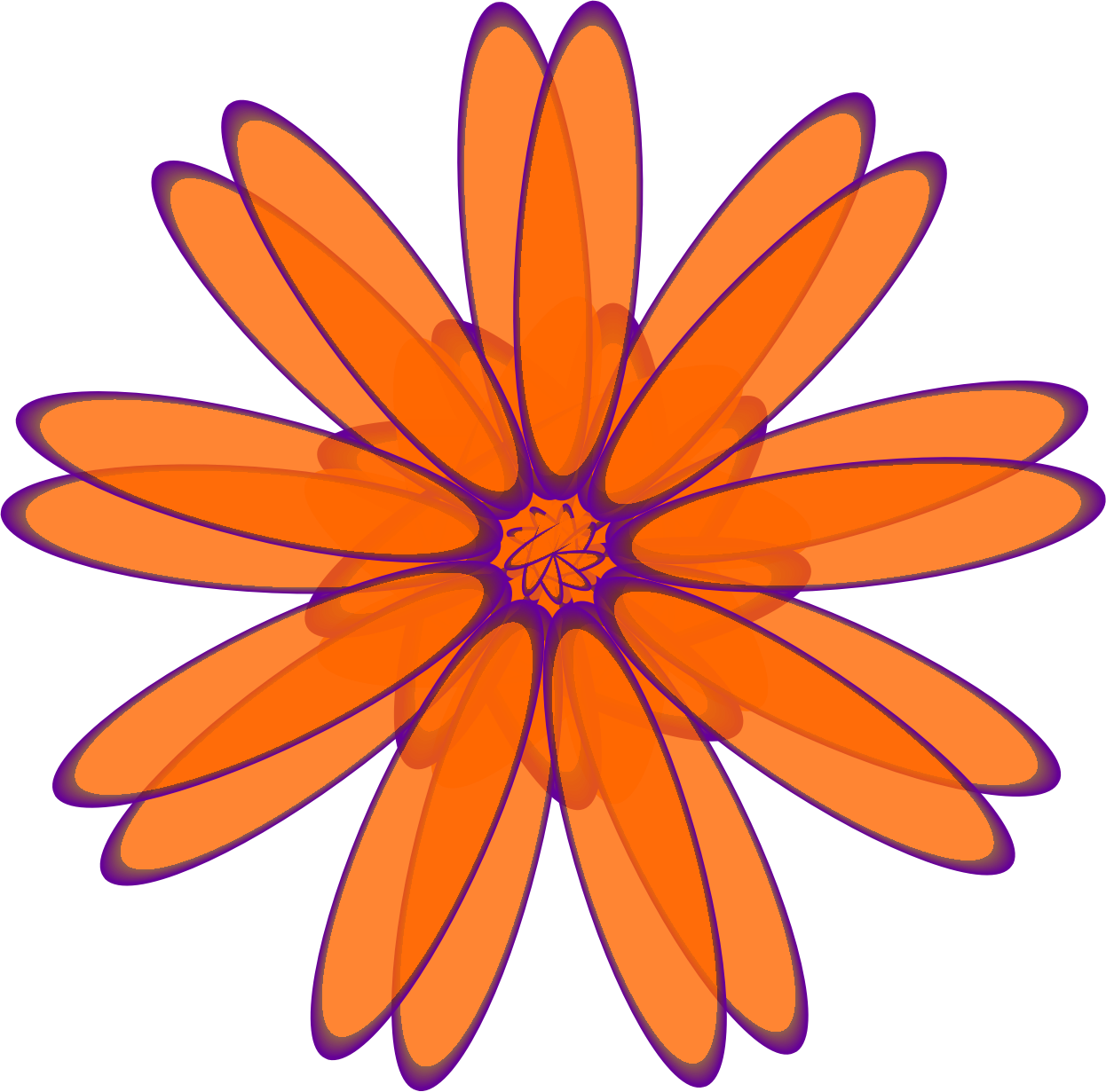 Orange Daisy by genolve