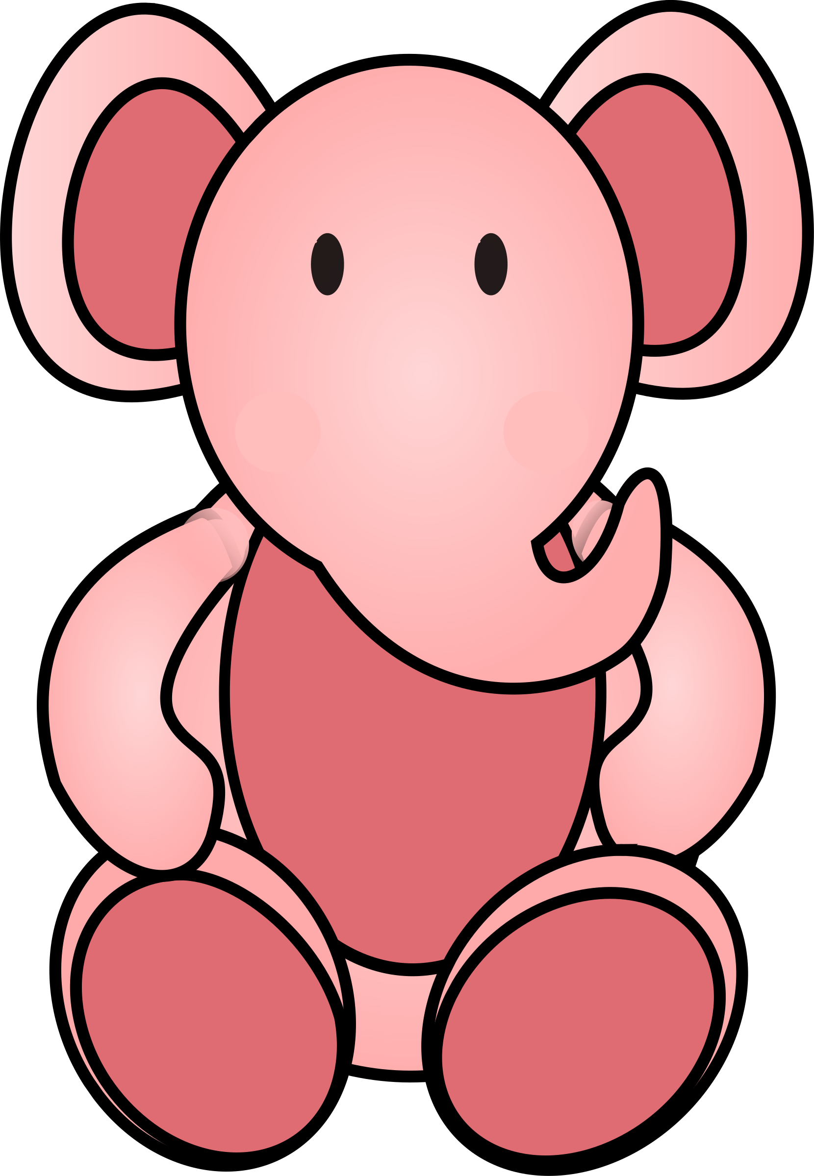 Pink elephant by rdevries