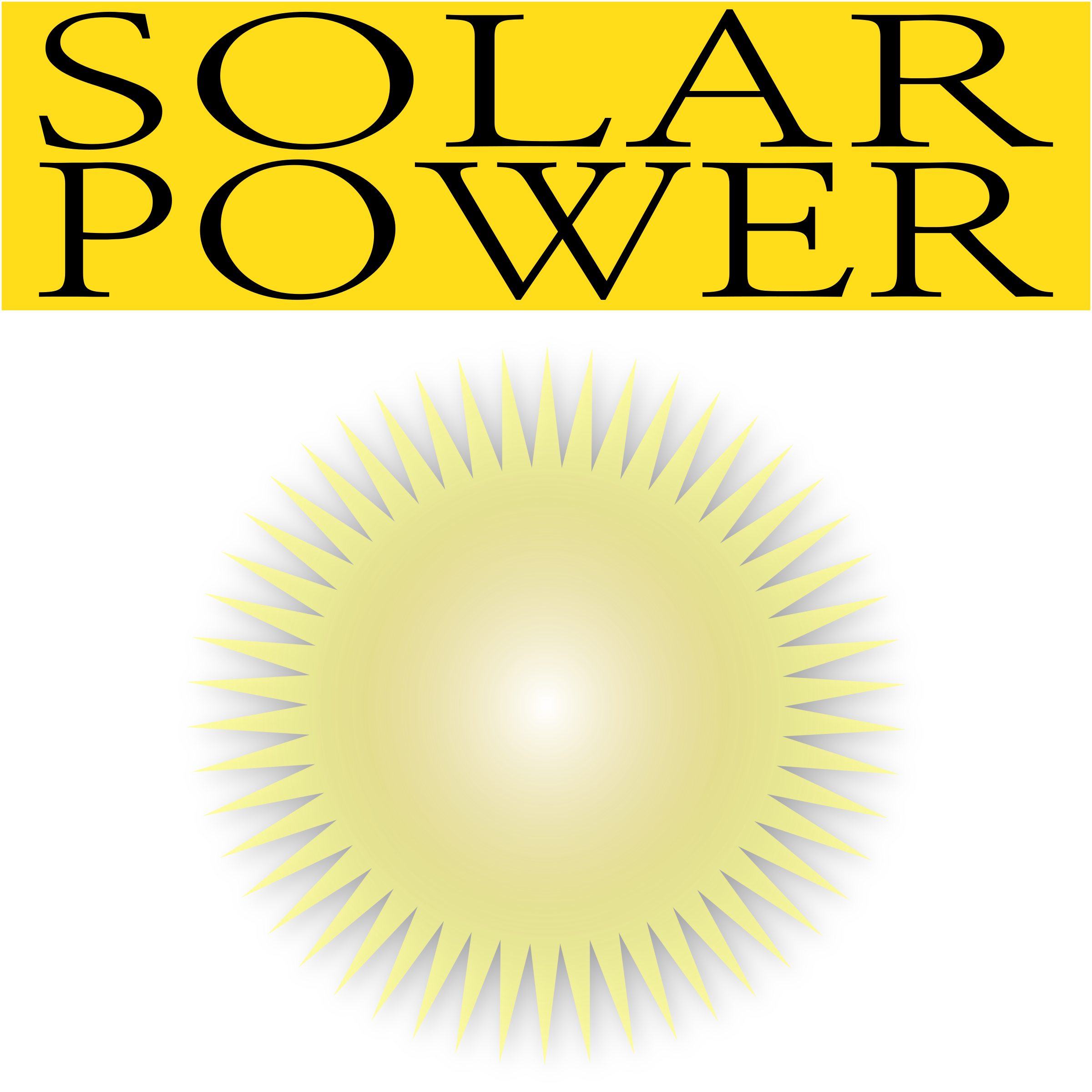 Solar Power Icon by Dustwin