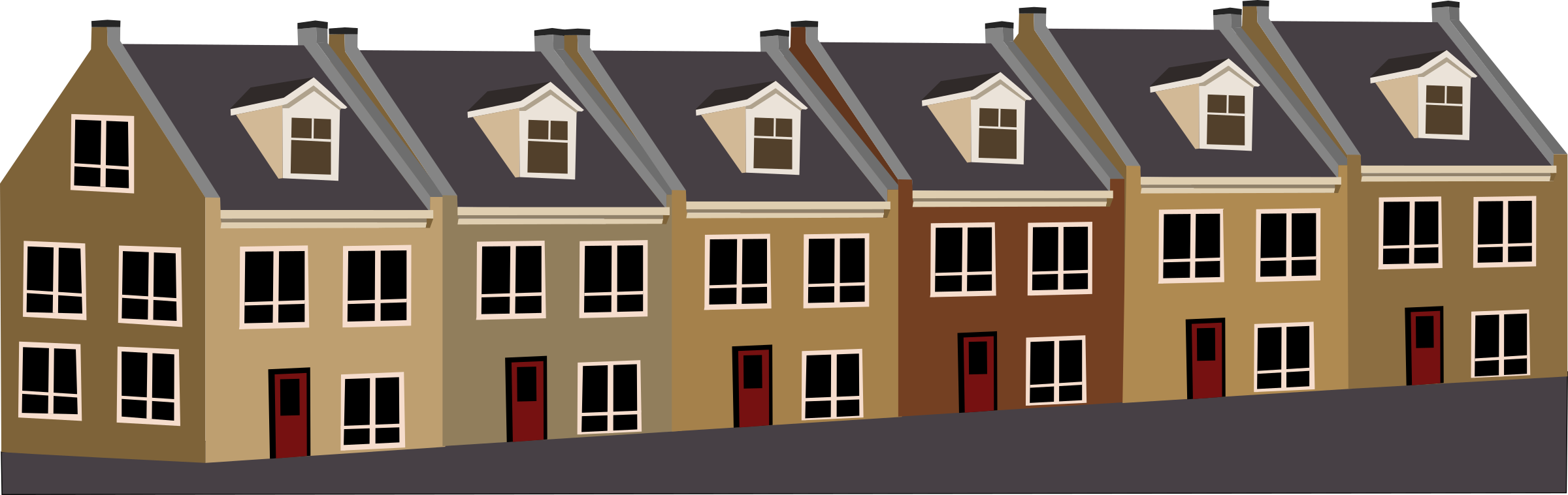 Tarraced houses by rdevries