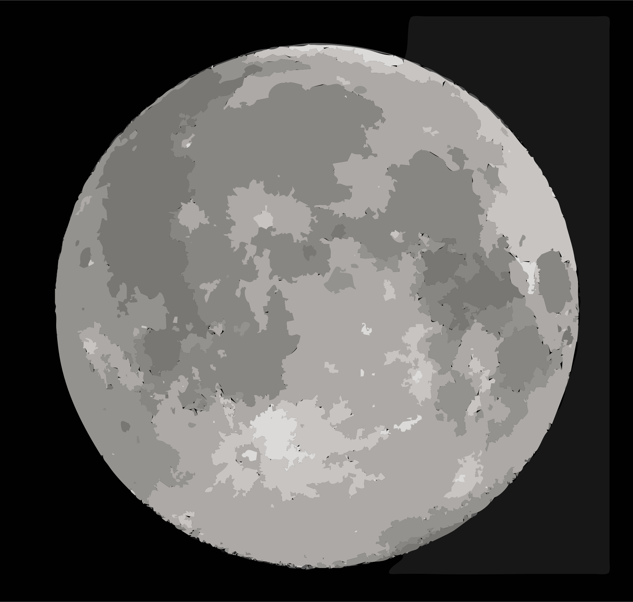 Simplified Supermoon by rejon