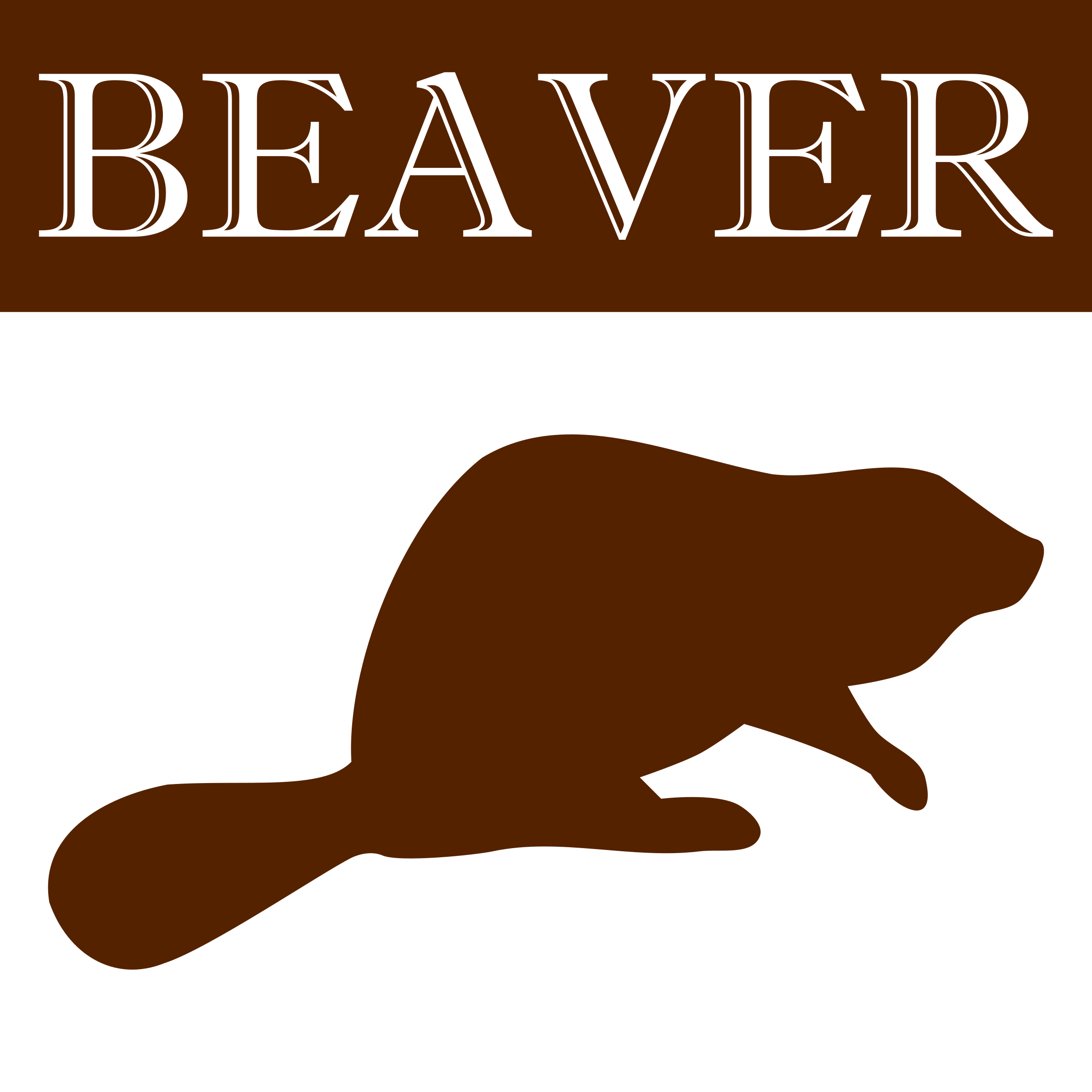 Beaver silhouette icon by Dustwin