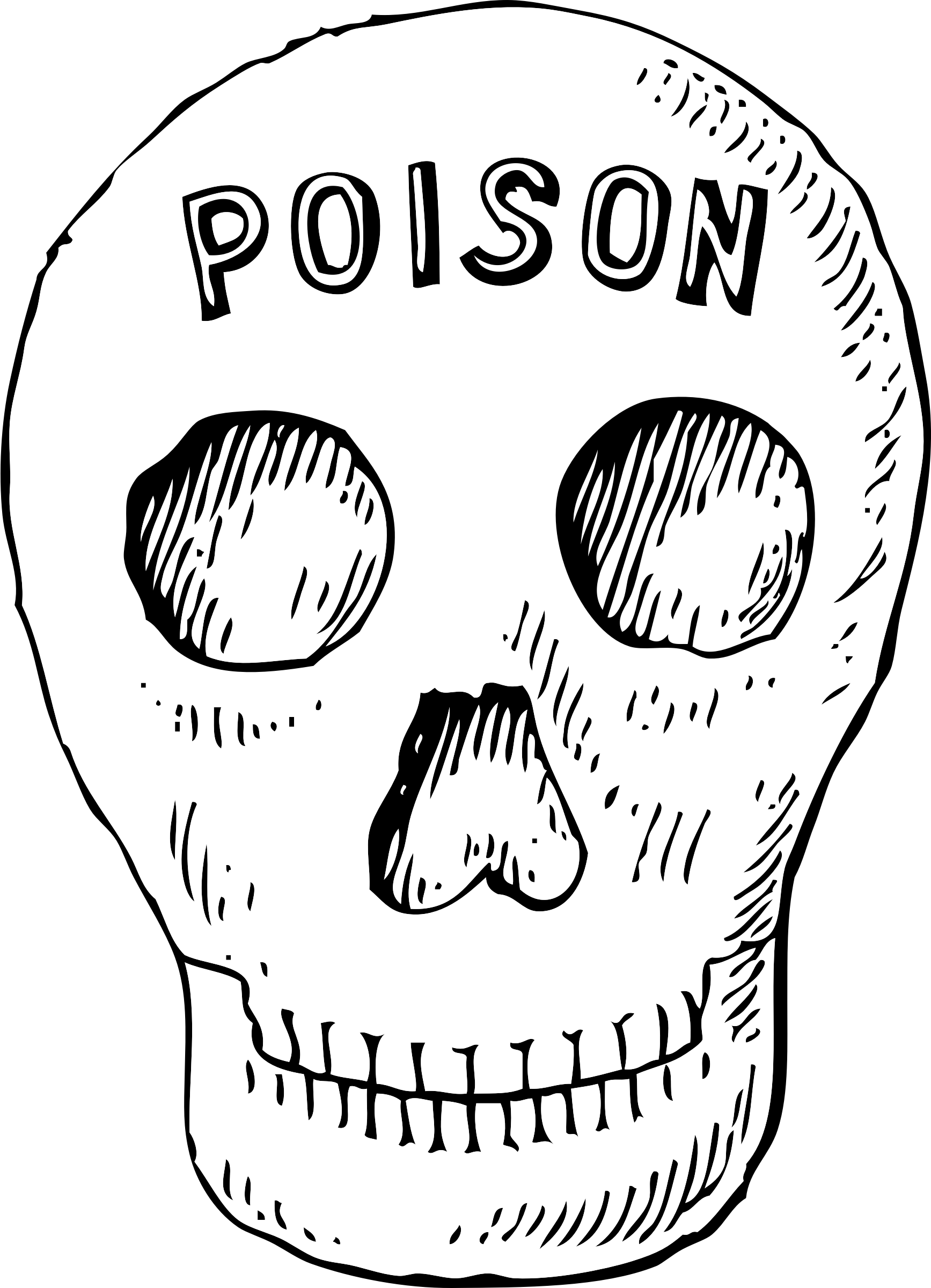 poison skull by johnny_automatic