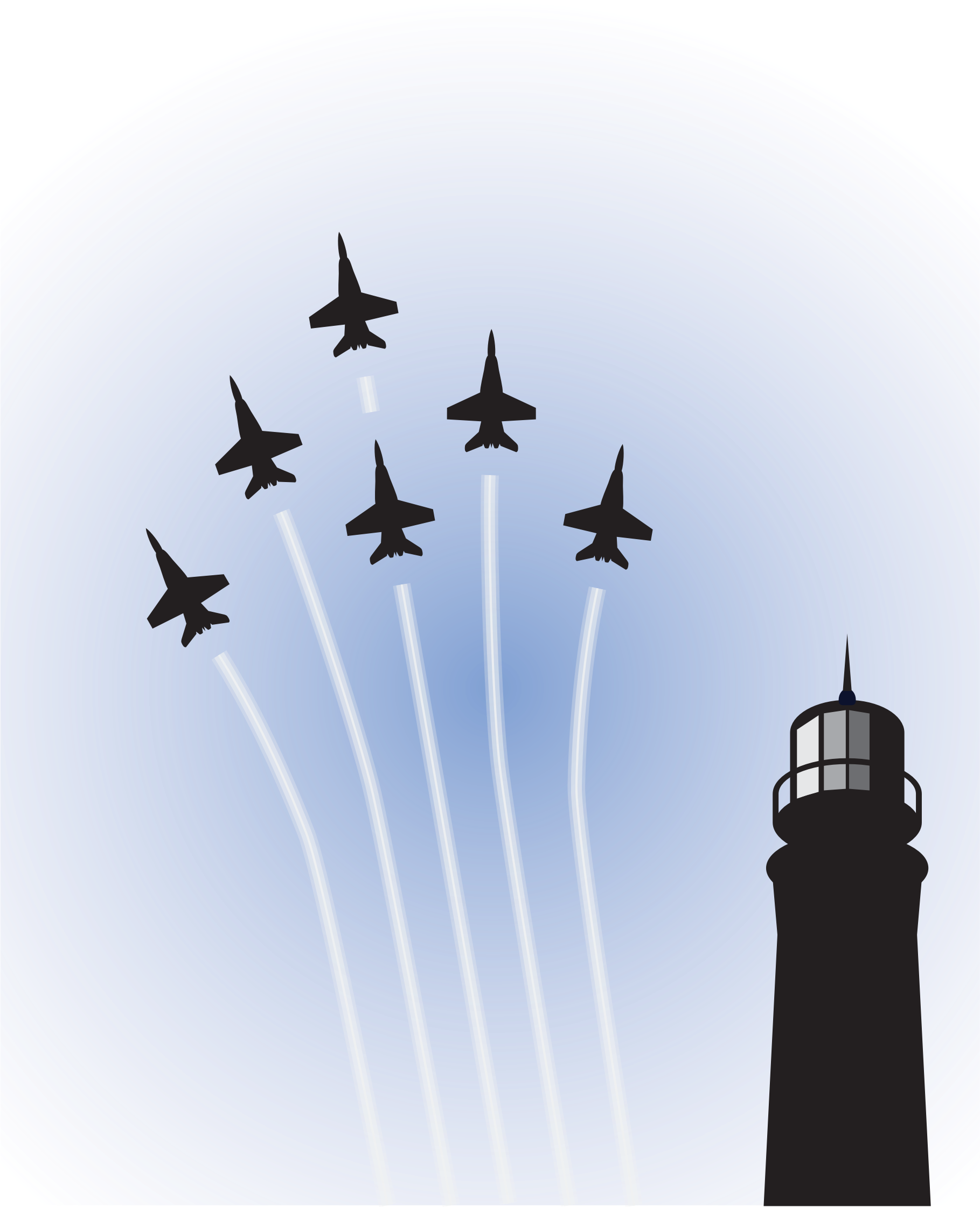 Blue Angels over Lighthouse by bnsonger47