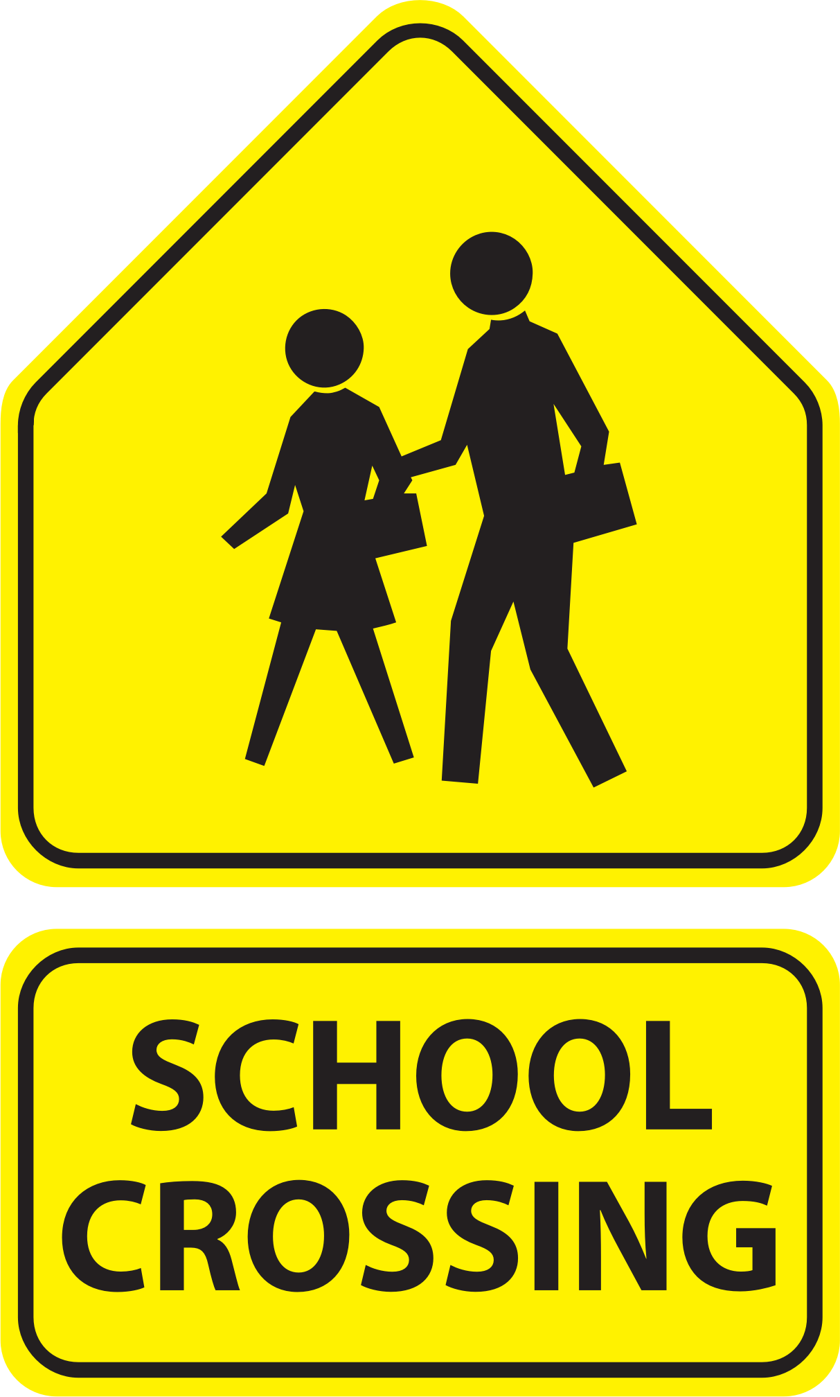 School Crossing Signs by bnsonger47