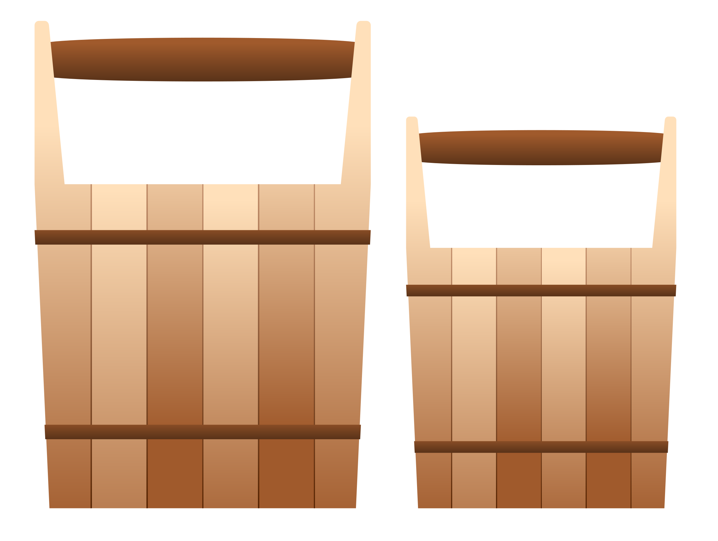 Wooden Pails by Viscious-Speed