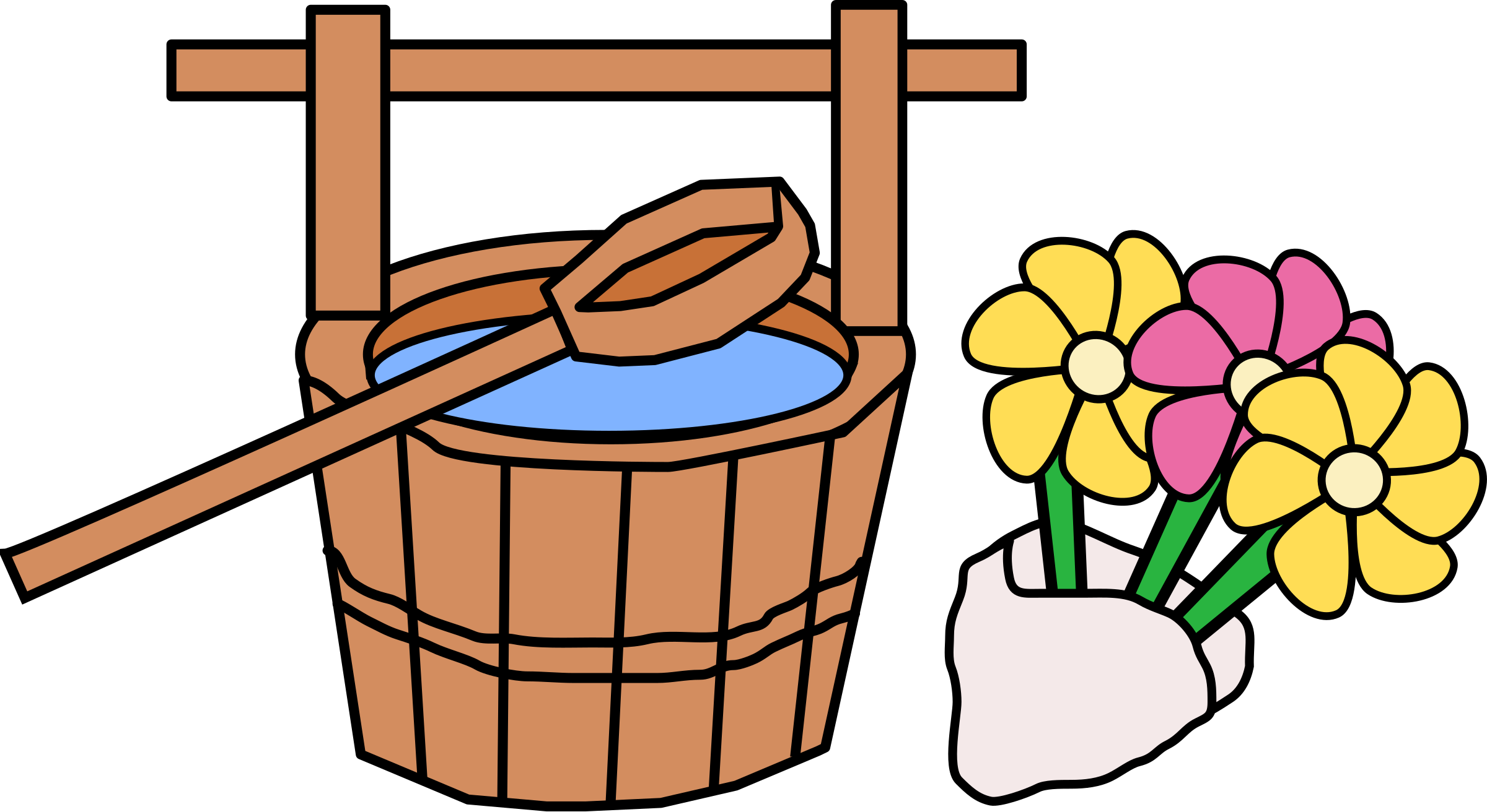 Hakamairi - Bucket and Flowers by j4p4n