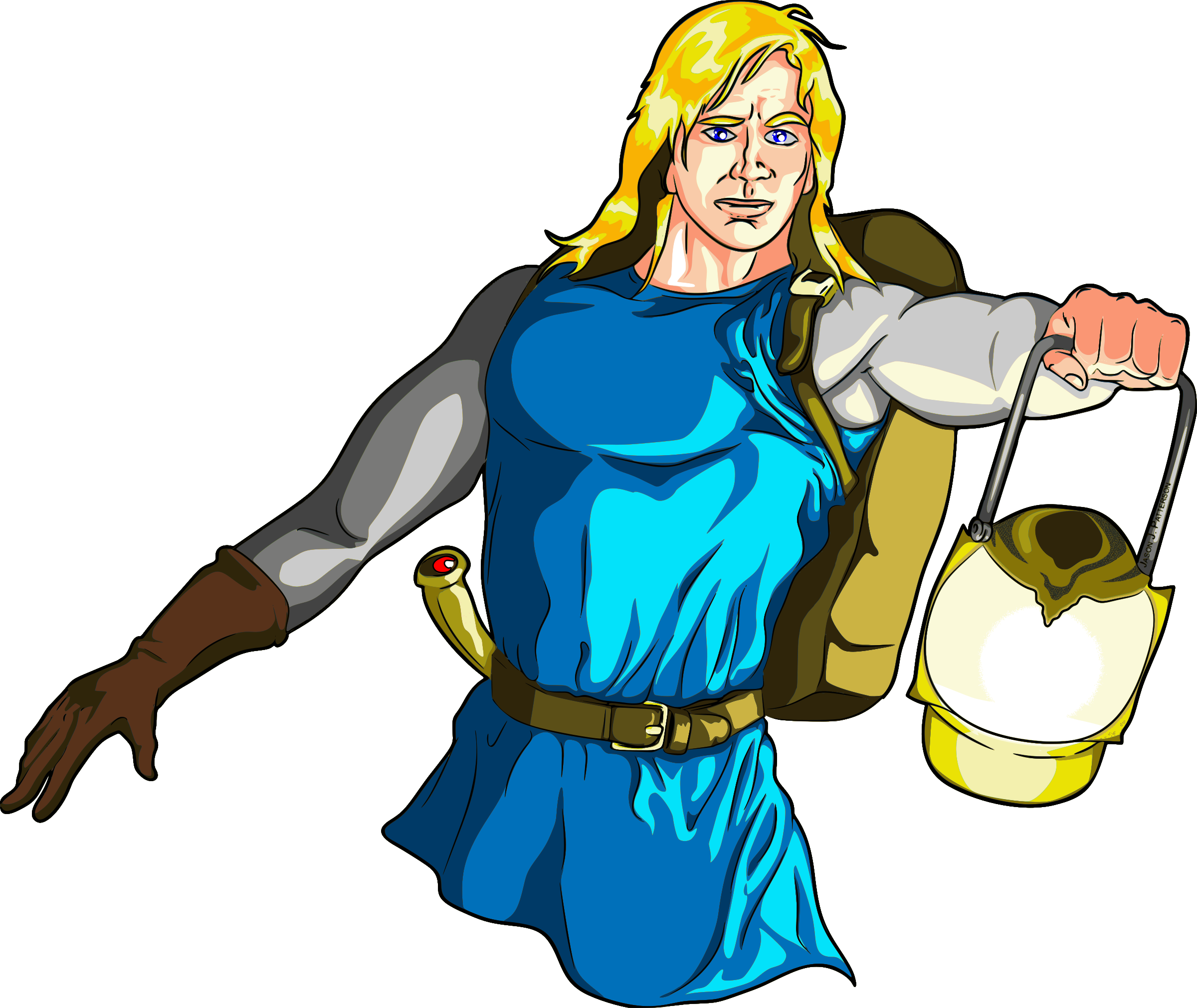 Blonde Male Medieval Adventurer with Lantern - Highlights by jpneok