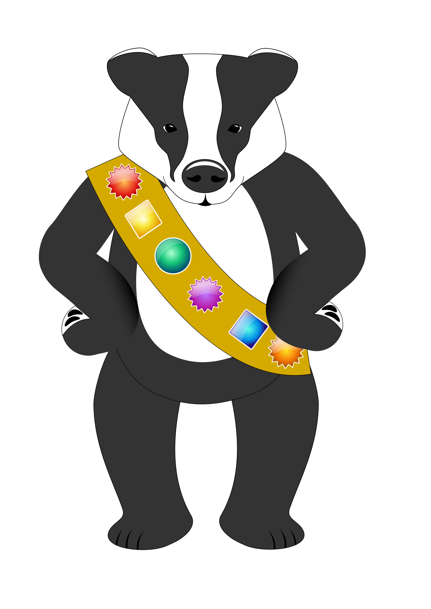 Badge wearing badger by Grafixgrrl
