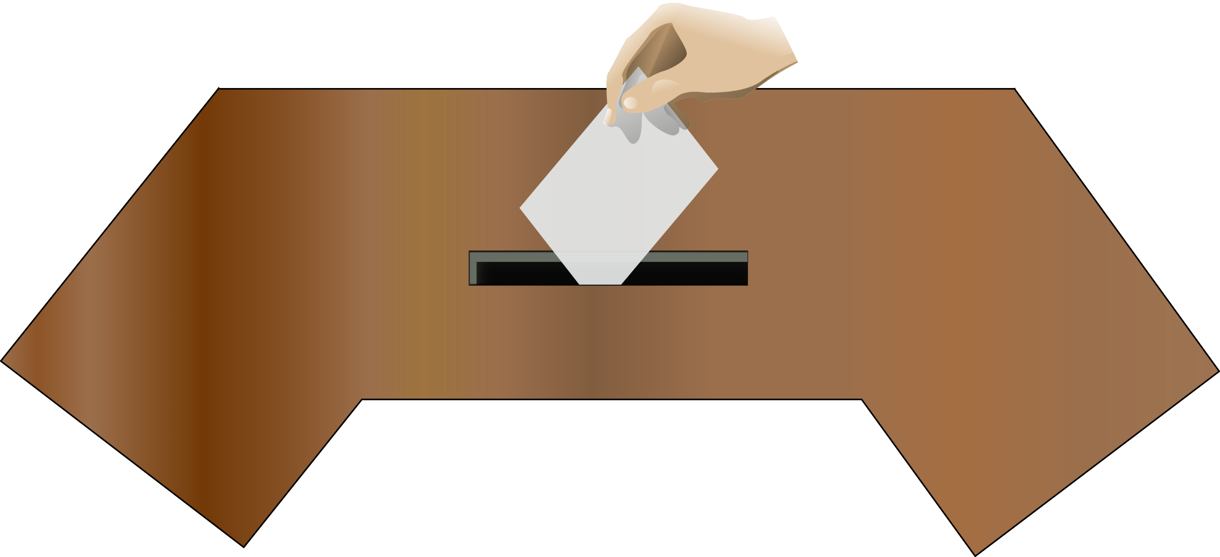 Ballot box front with hand by baditaflorin