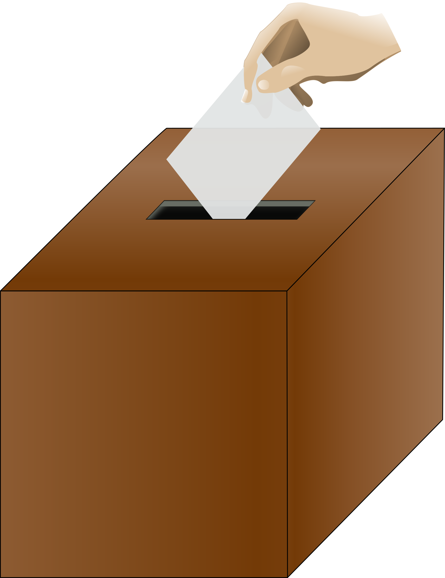 Ballot box isometric with hand by baditaflorin