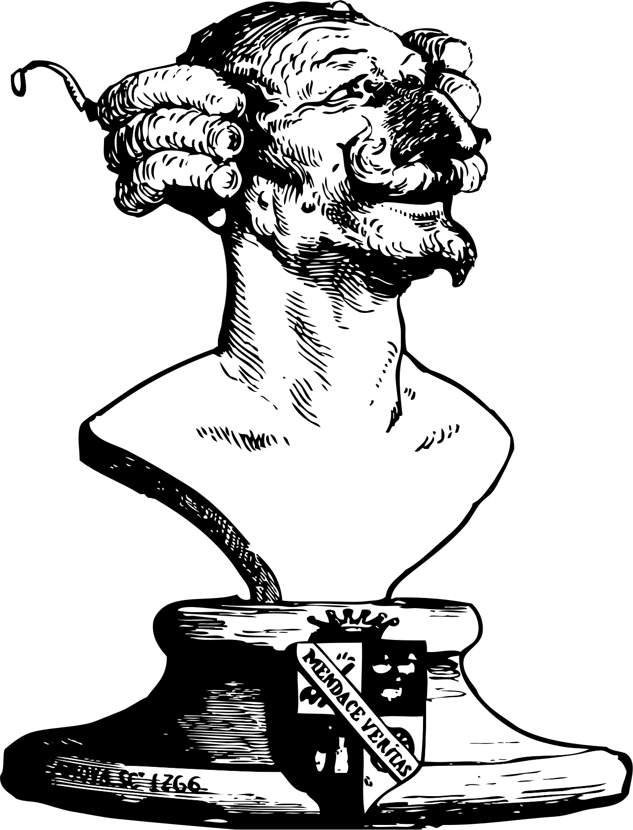 The bust of Baron von Munchausen by kinetoons