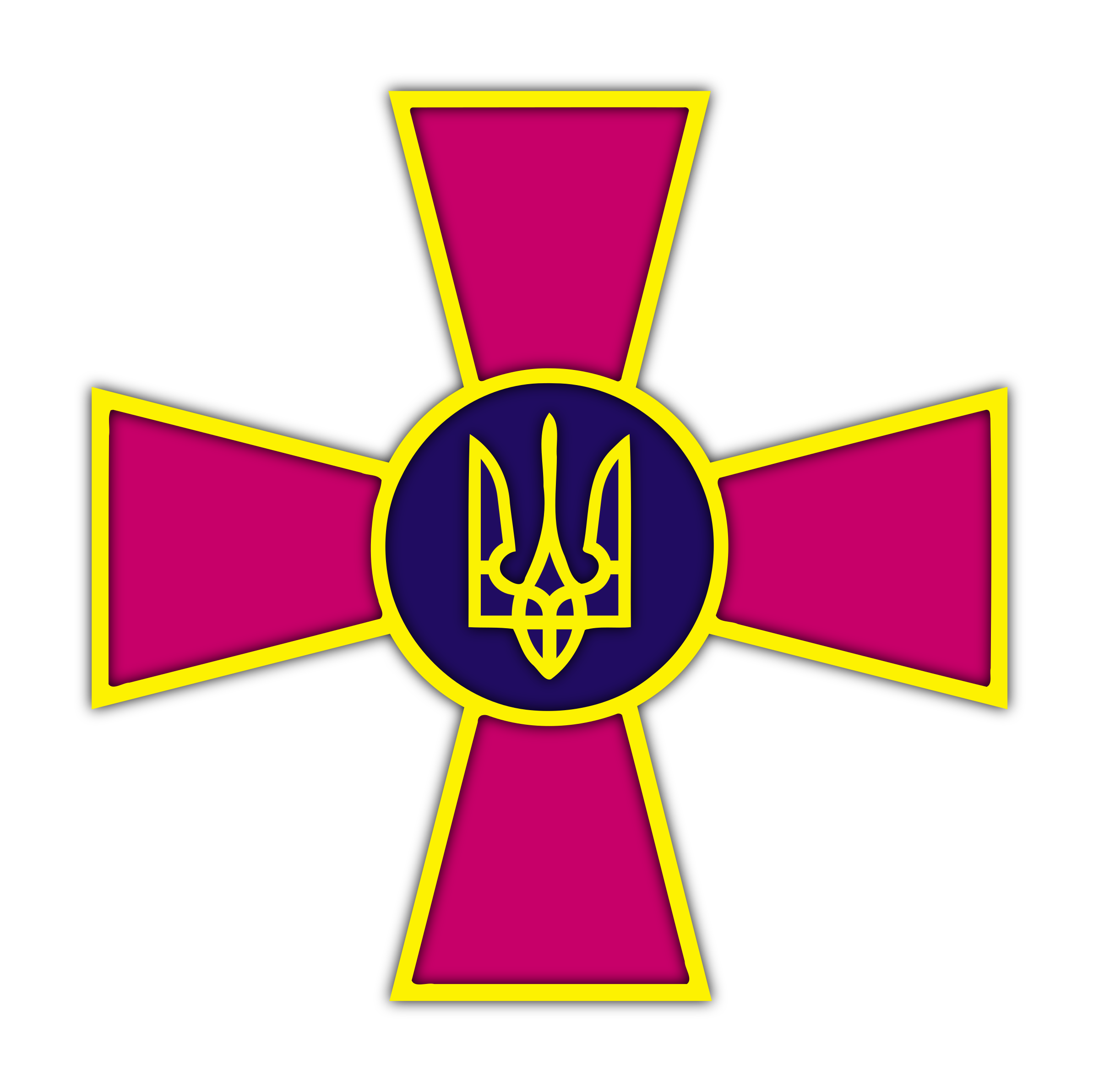 Emblem of the Armed Forces of Ukraine by grin