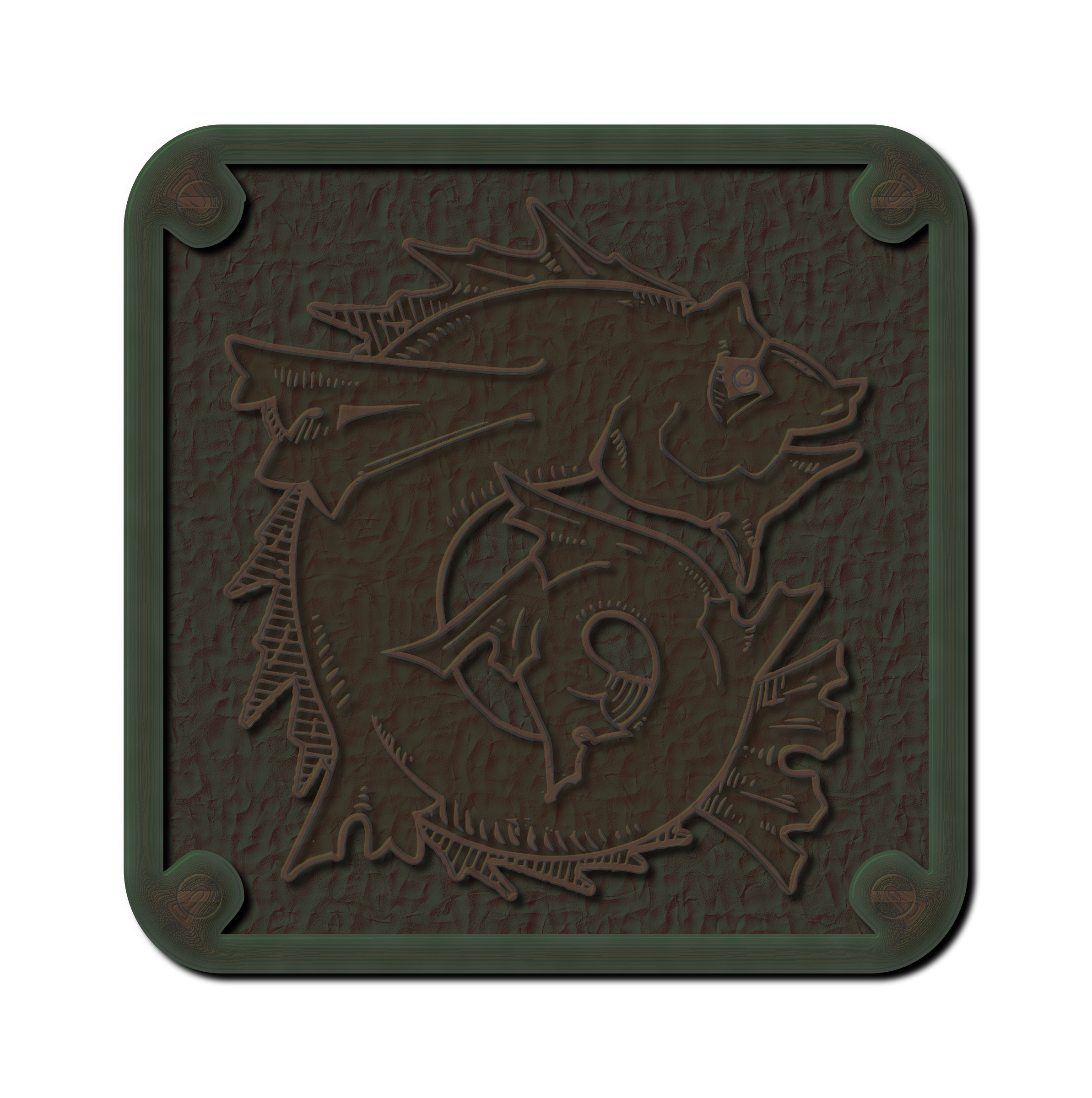 Weathered Bronze Plaque  by gubrww2