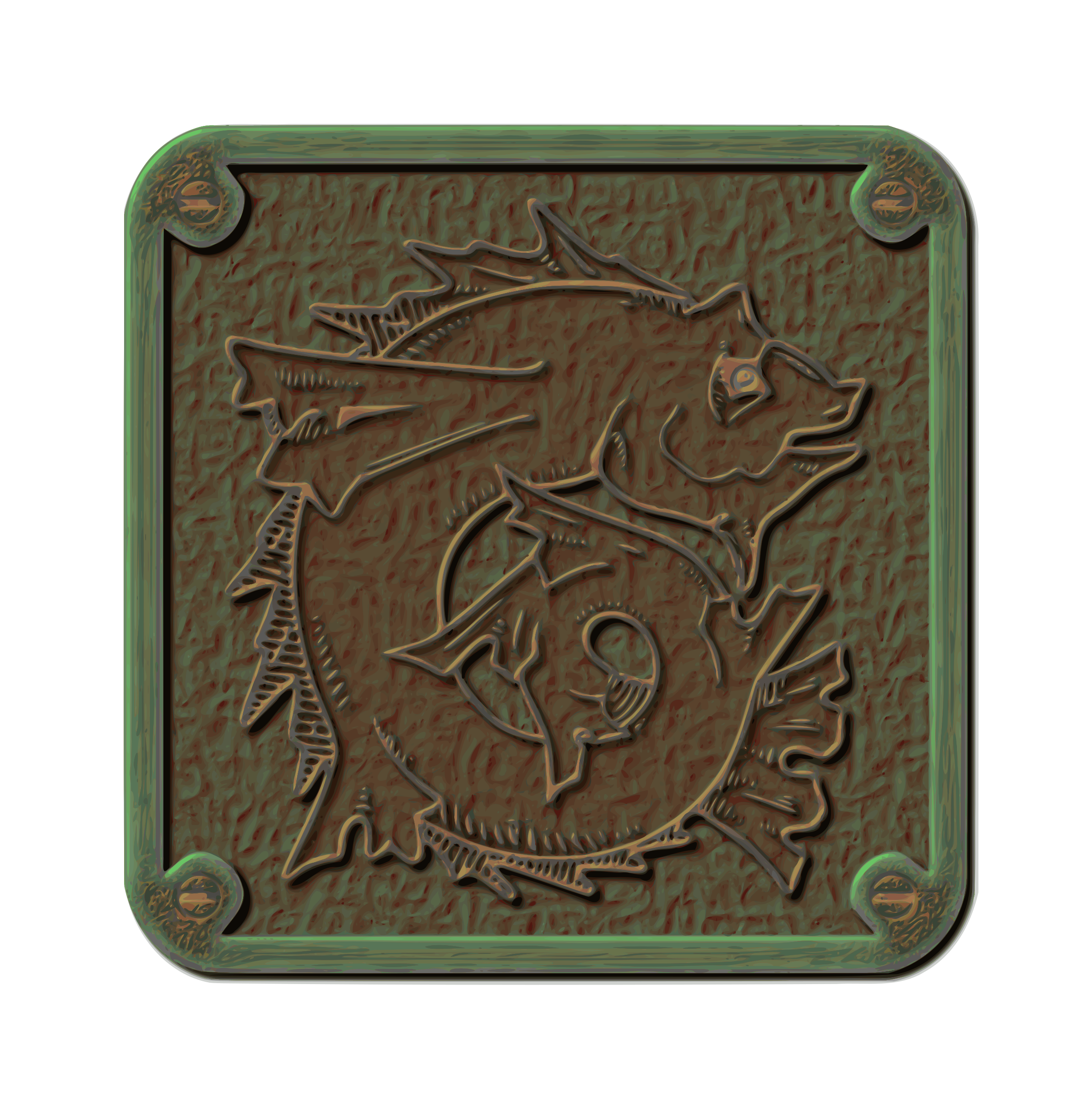 Traced Weathered Bronze Plaque by gubrww2