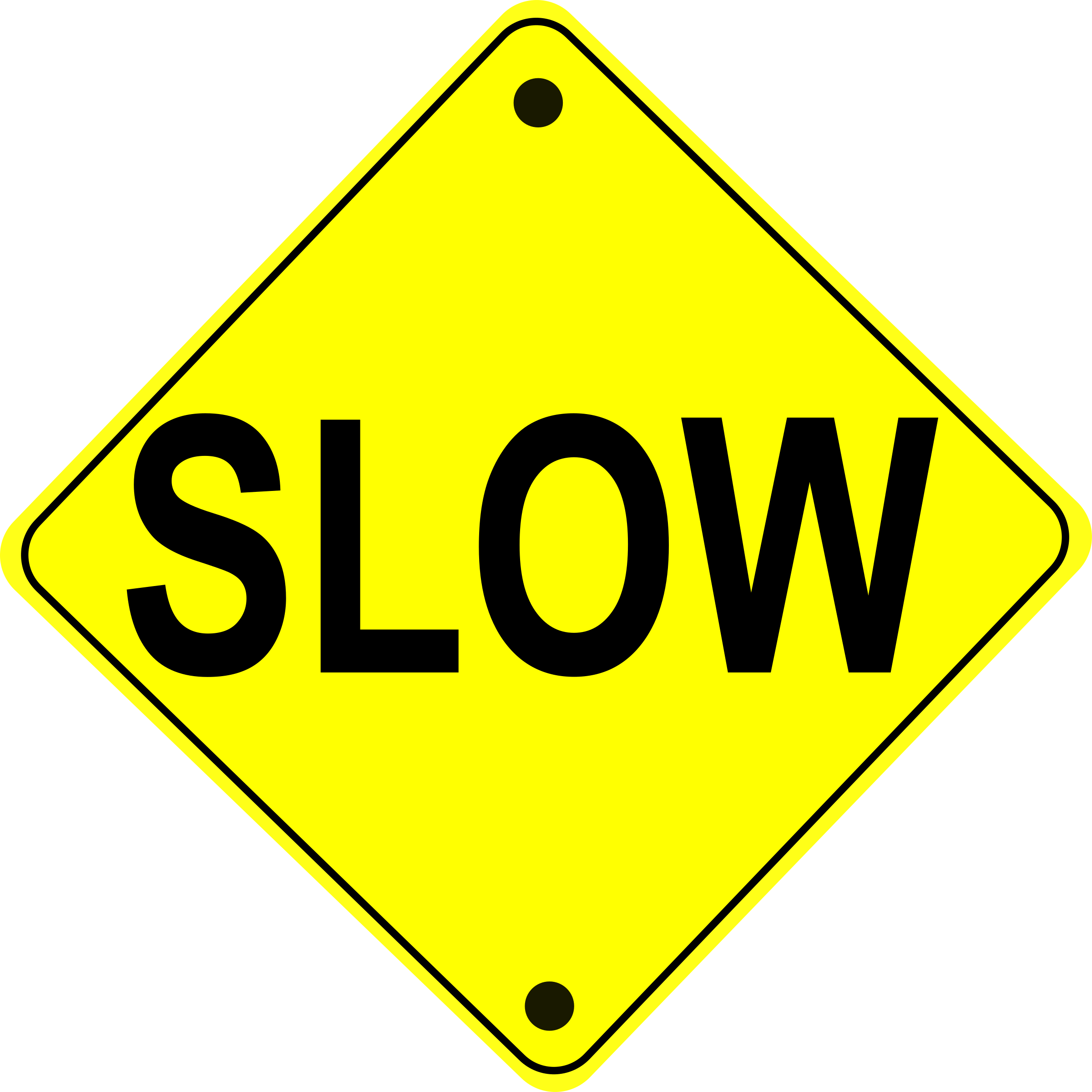 Slow Road Sign by schoolfreeware