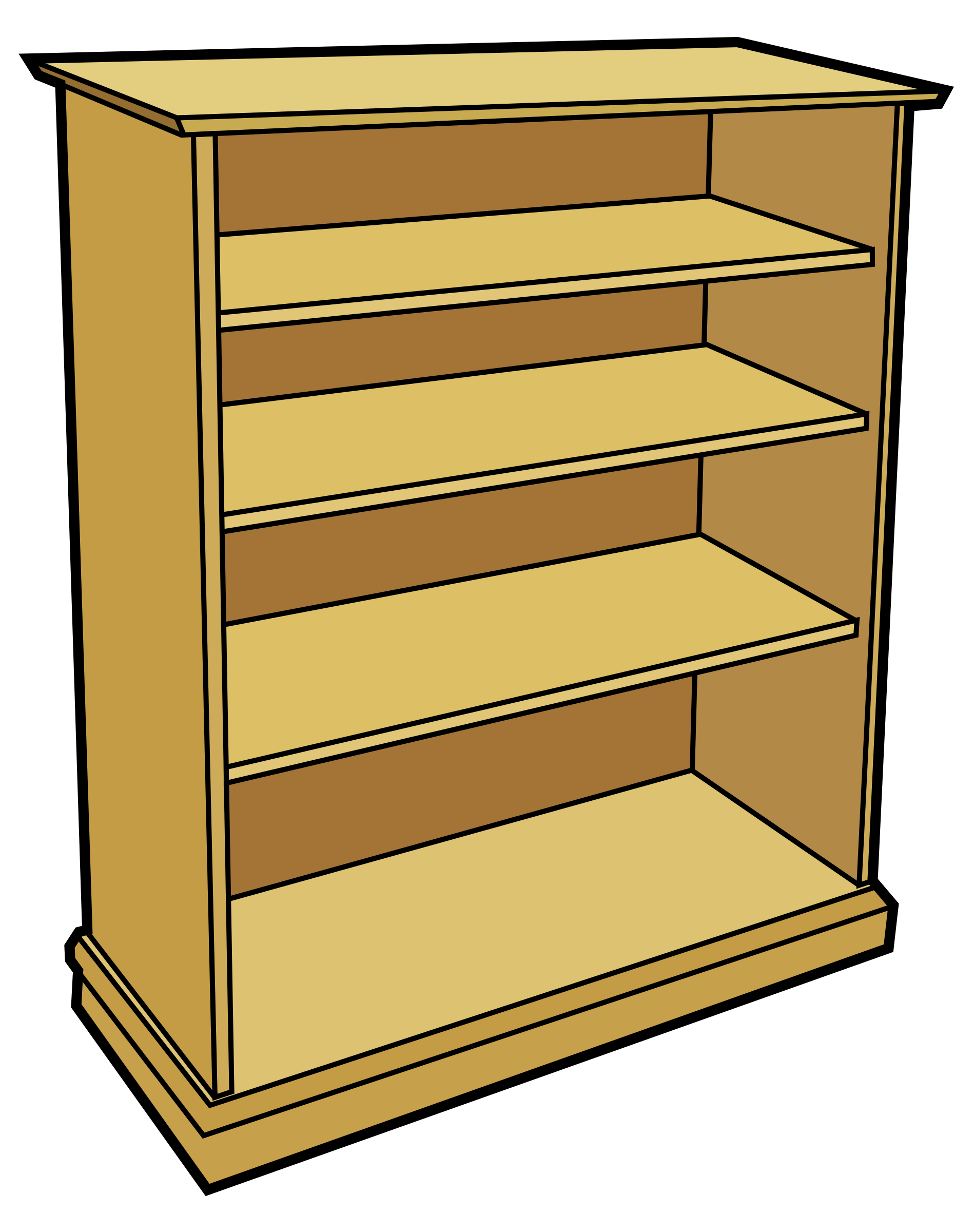 wooden bookcase by tom
