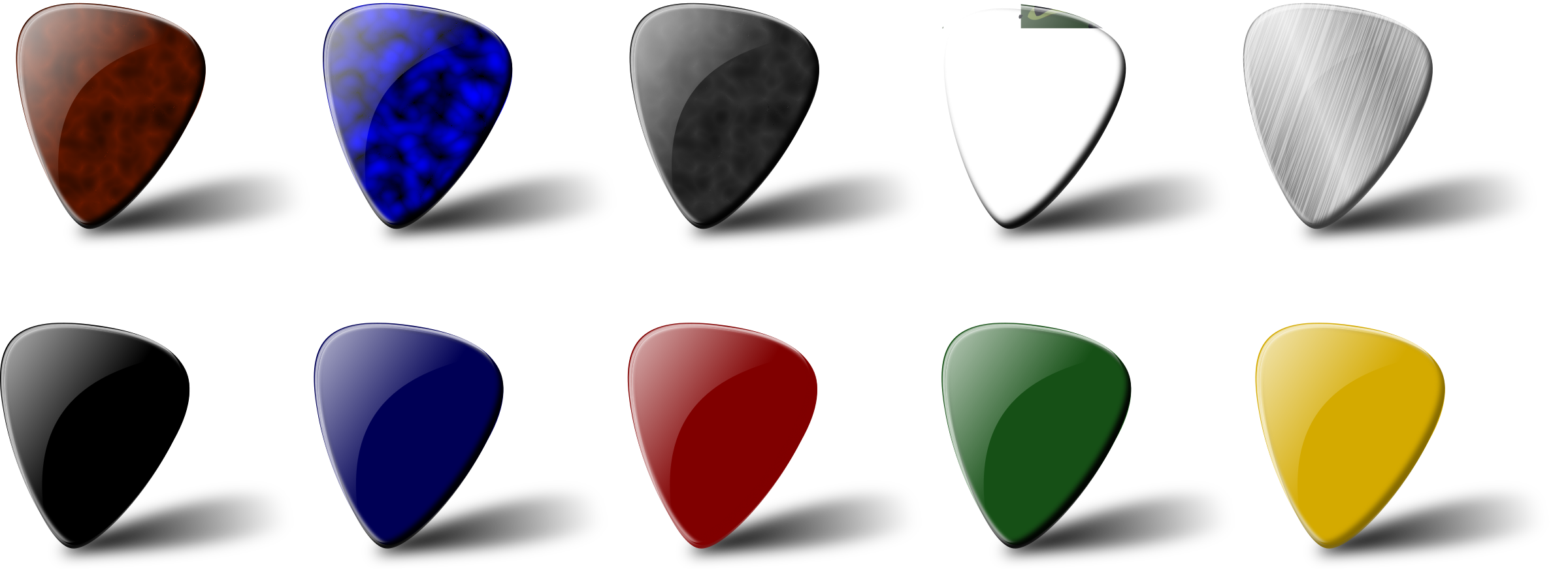 Guitar pick set by Chrisdesign