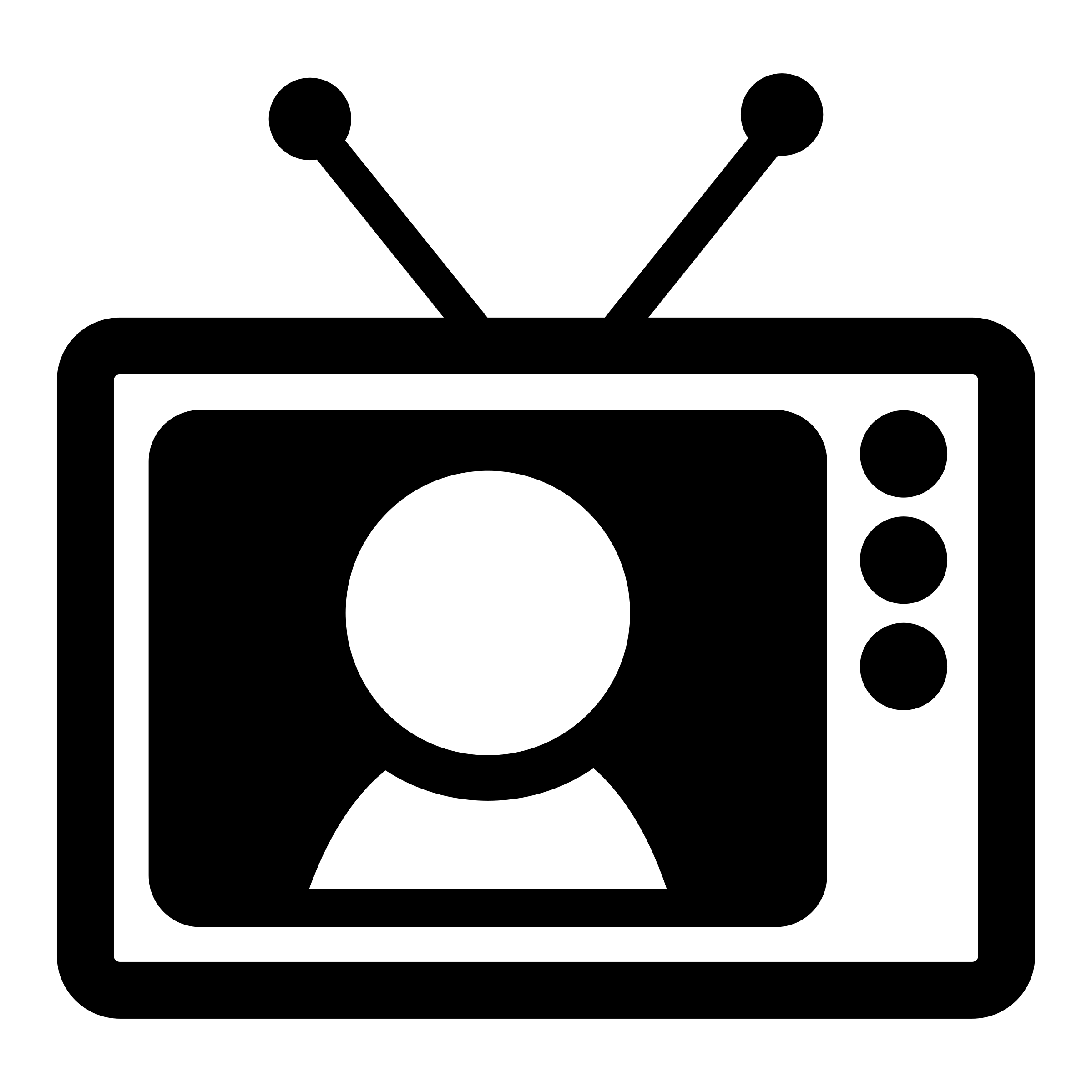 tv clipart black and white. mono tv by dannya clipart black and white