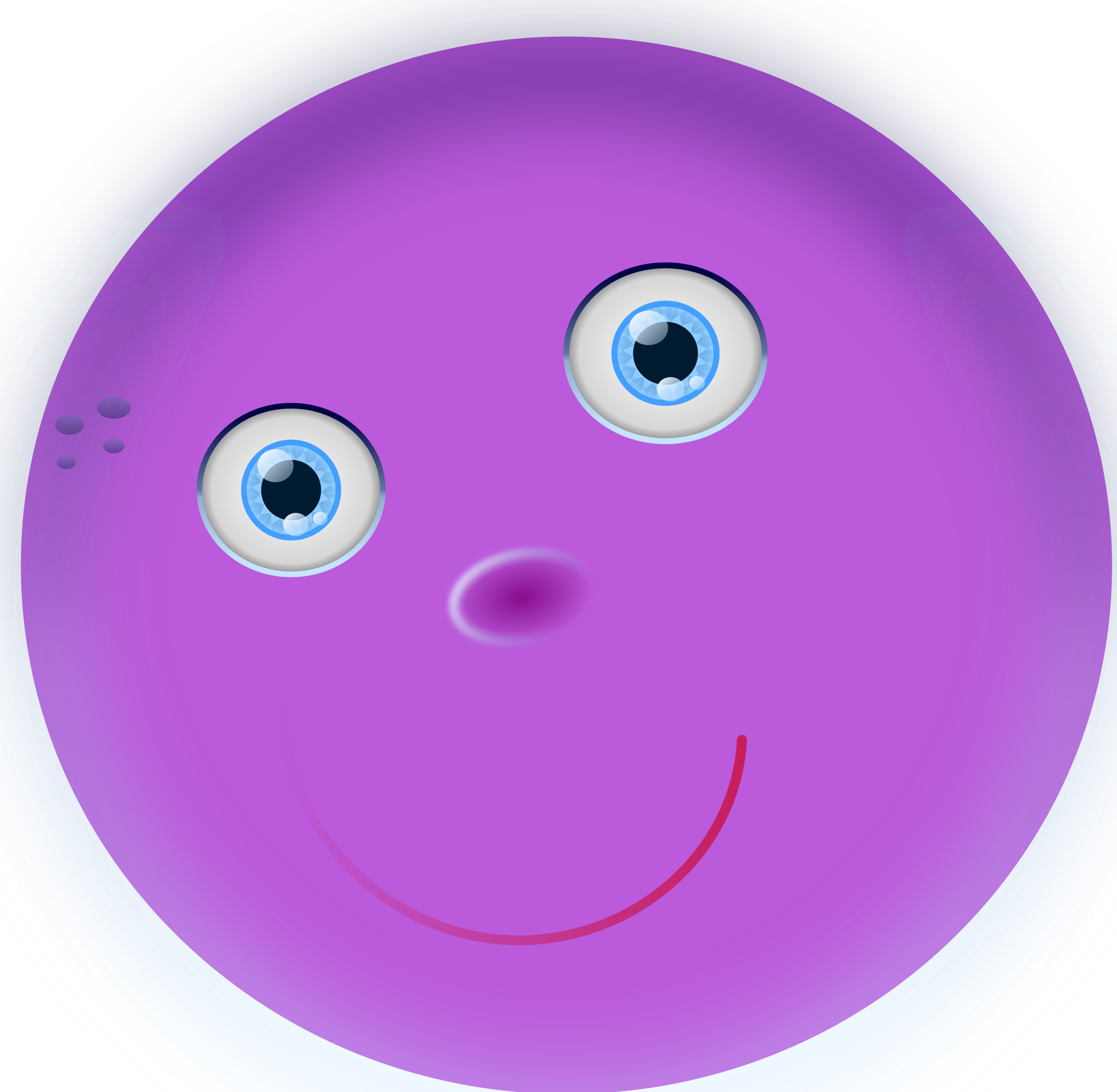 round purple face by ossidiana