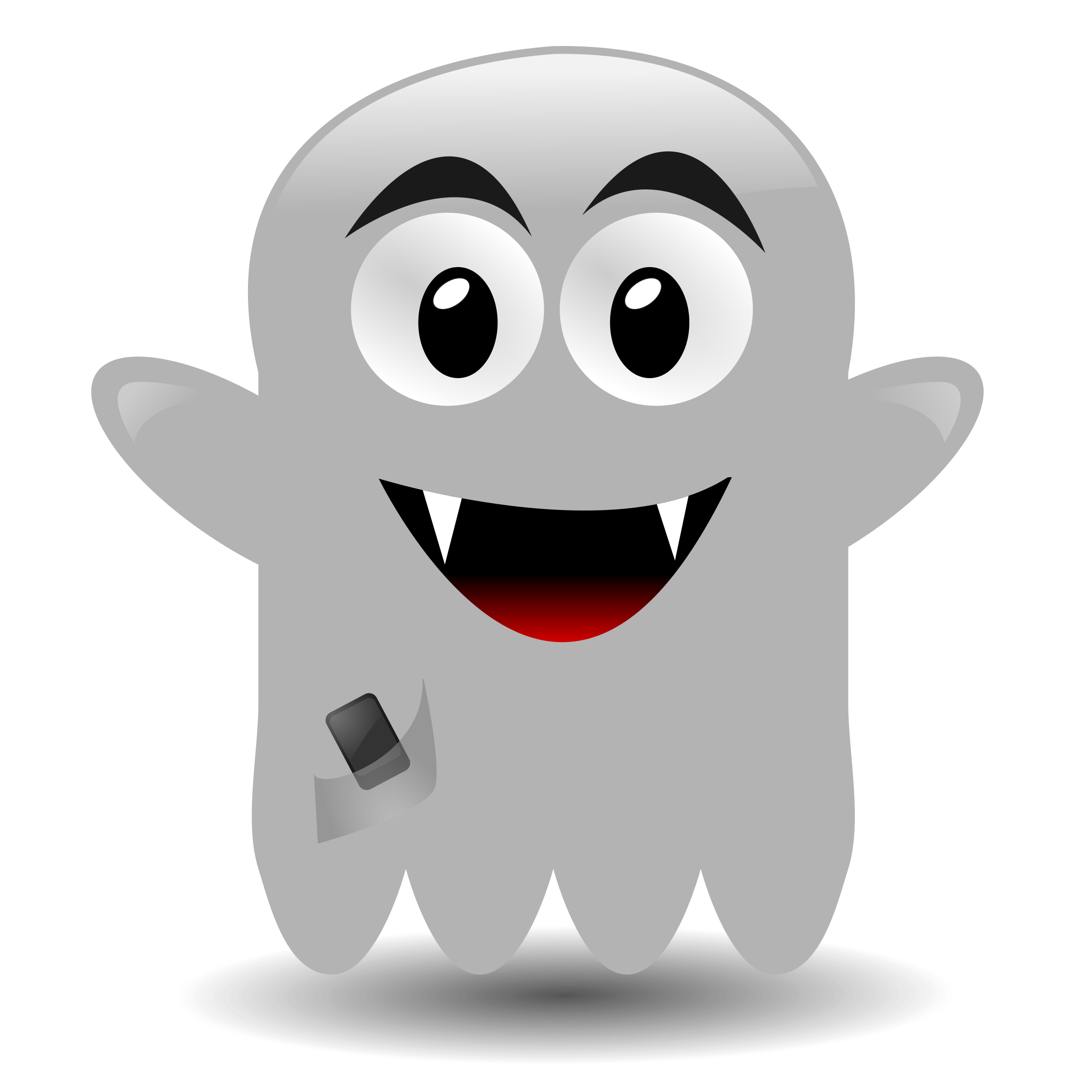 ghost with a cellephone by dodom01