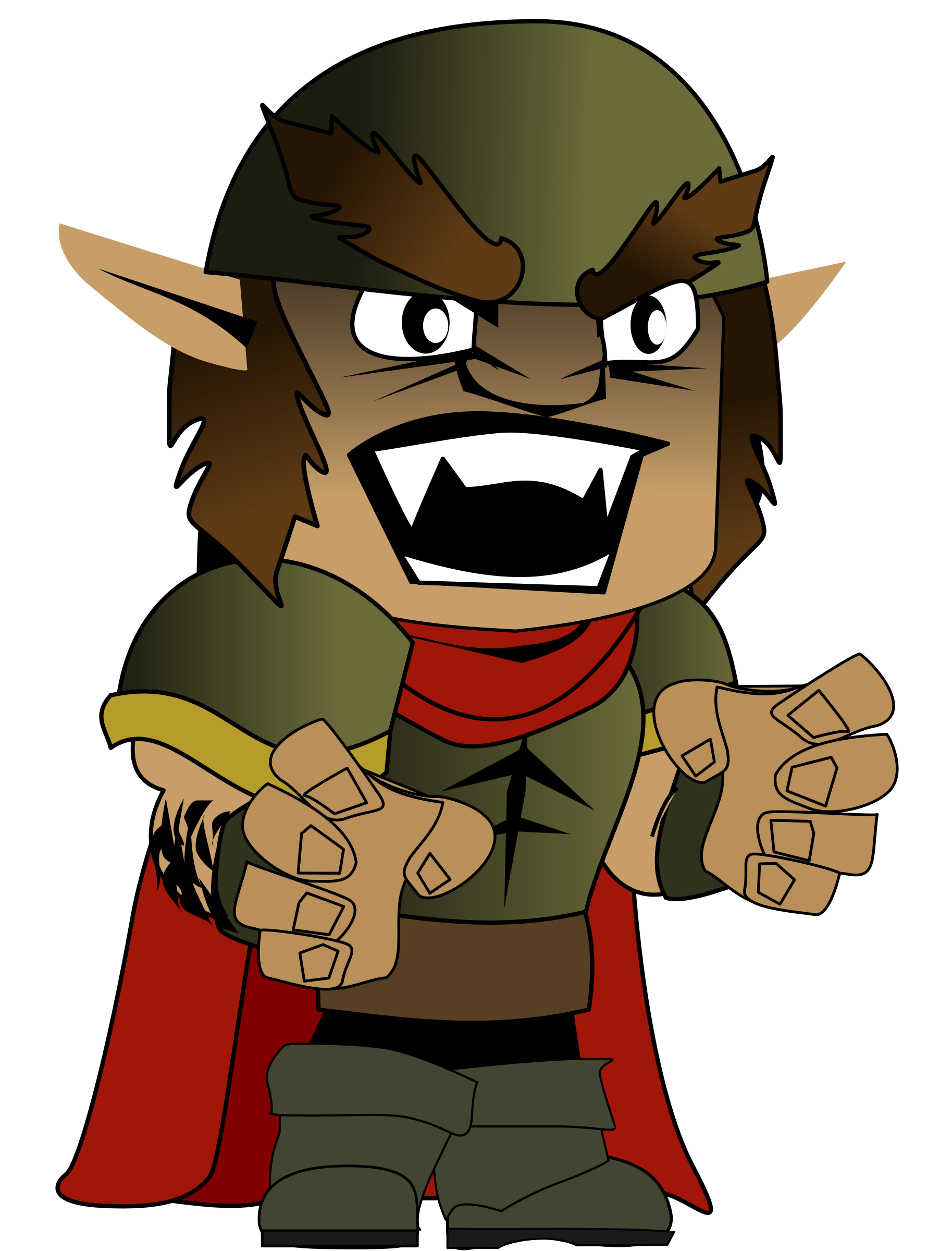 Orc chibi by Peileppe