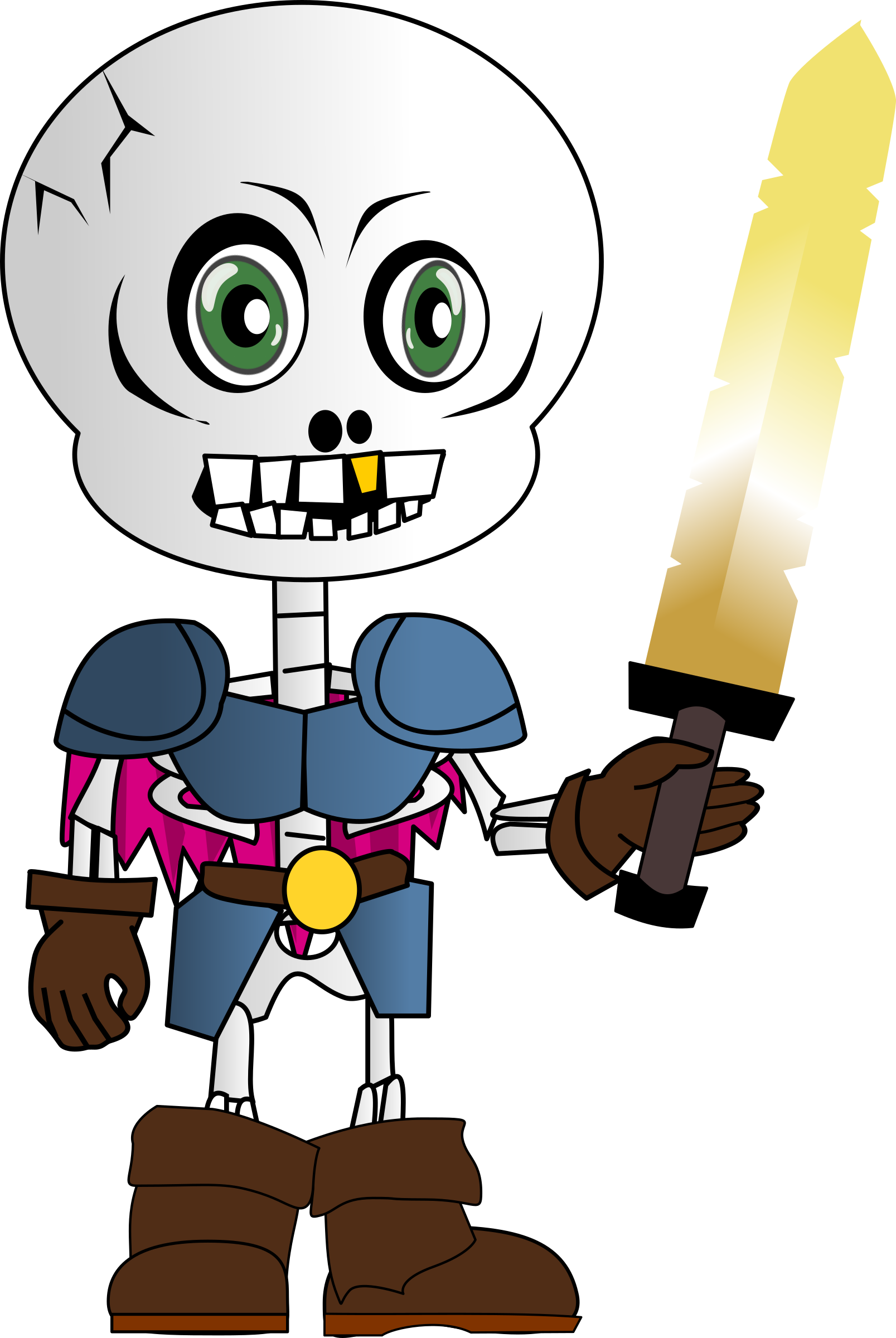 Skeleton Chibi by Peileppe