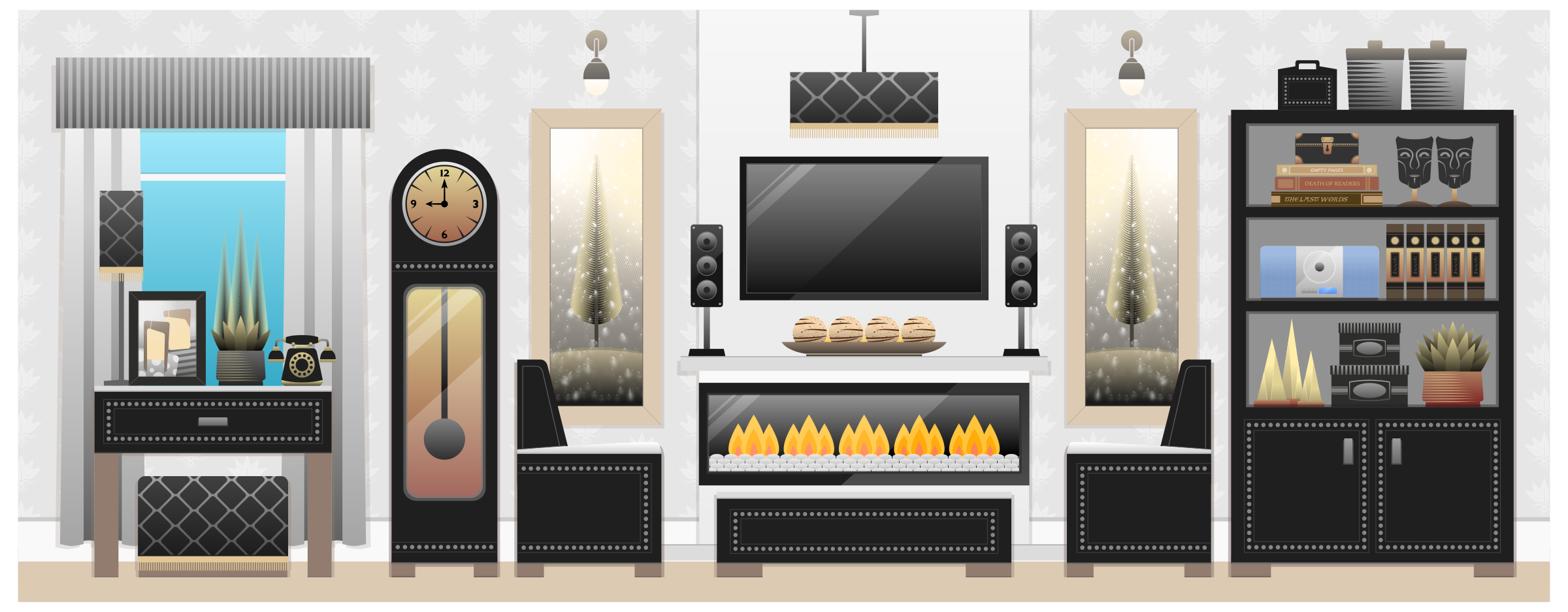 Clipart - Living Room