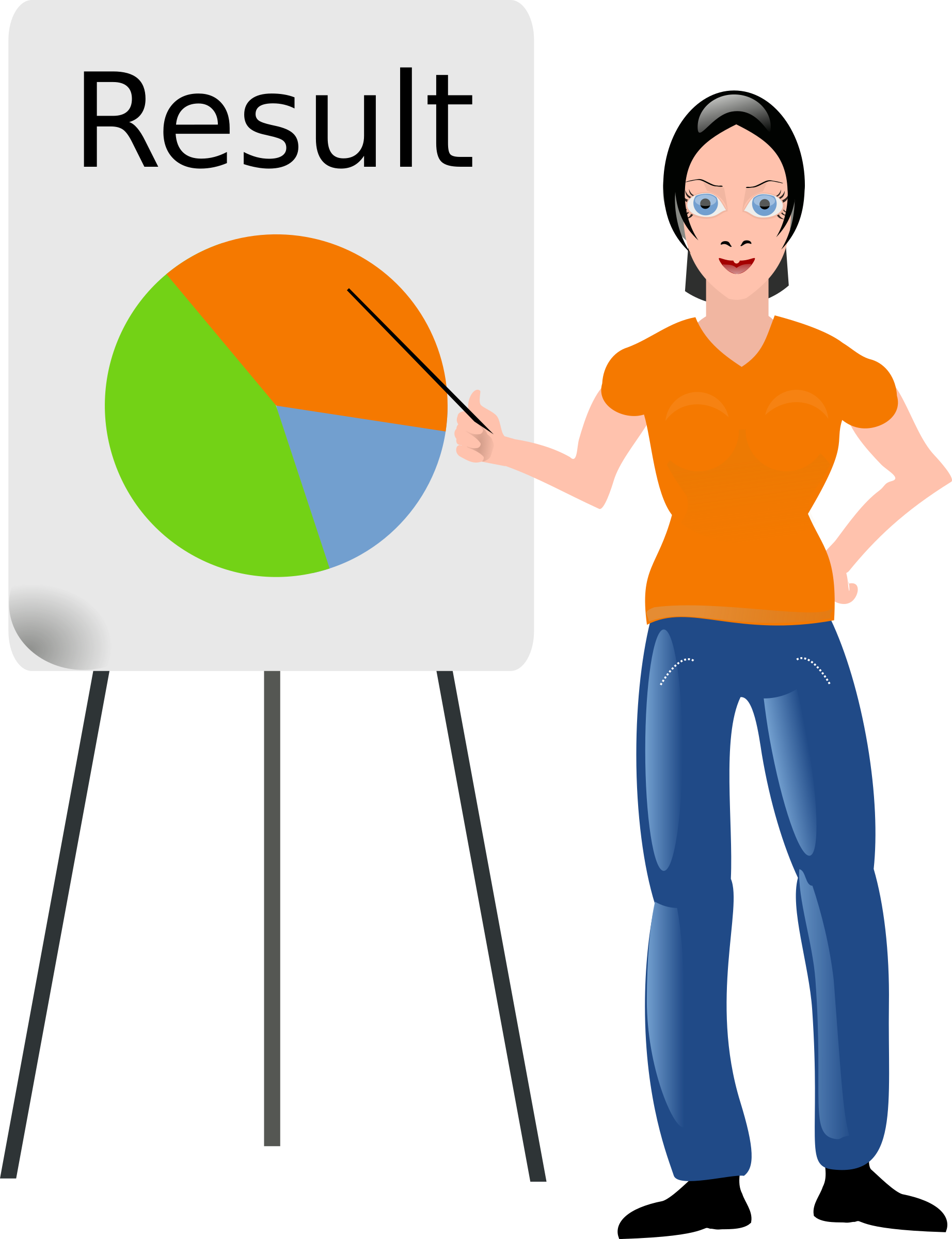 clipart - presentation with girl
