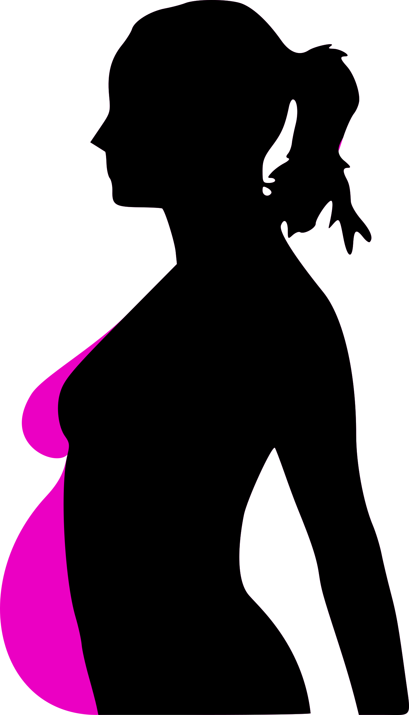 pregnancy silhouet by molumen