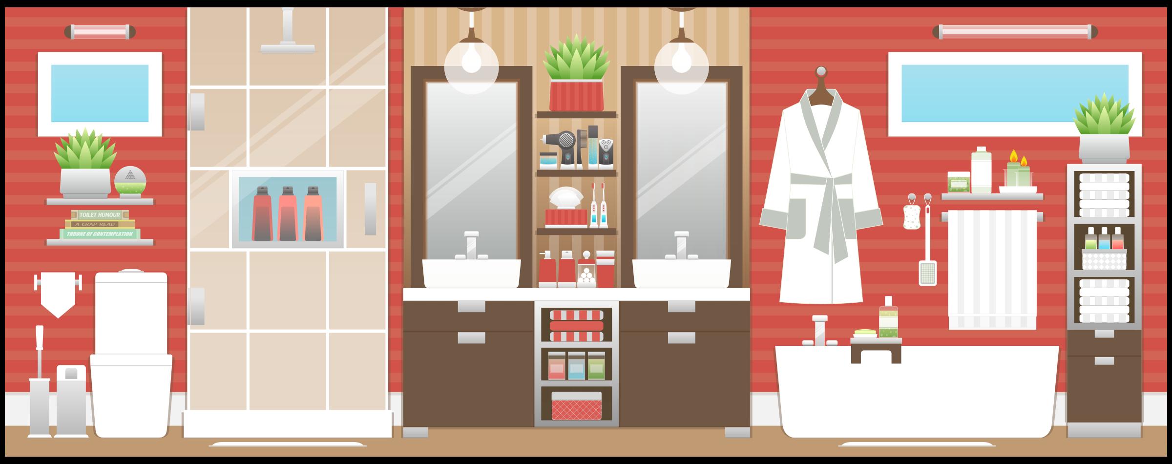 Clipart bathroom - Image of bath room ...