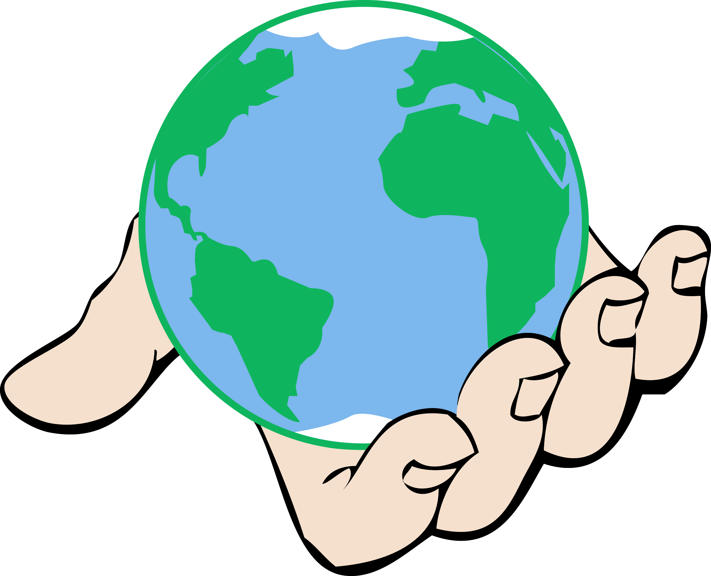clipart world in hand rh openclipart org free clipart of the world clipart of the world map