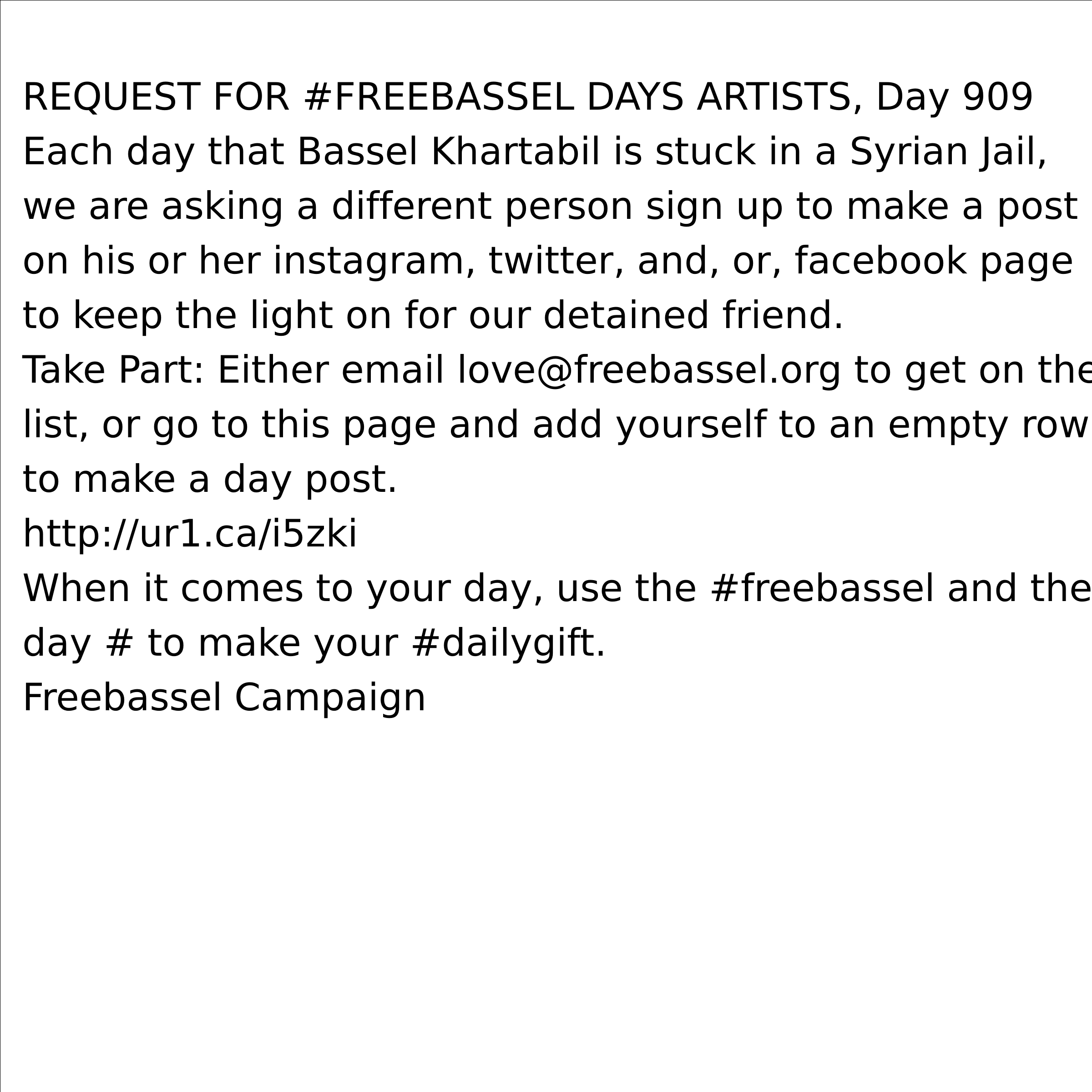 Request for Freebassel Days Artists by freebassel
